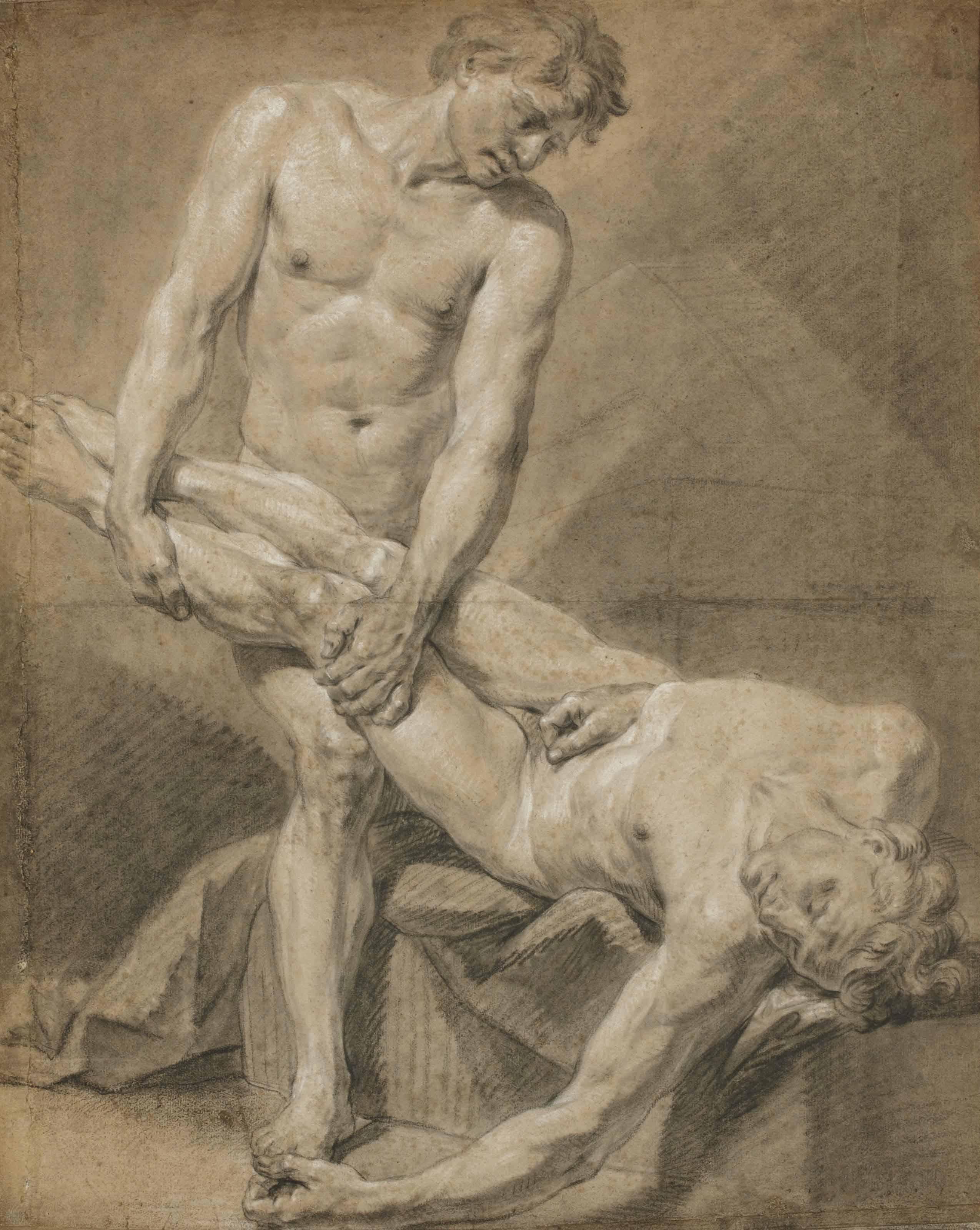 Académie de deux hommes nus
