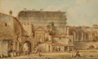 La Porte Majeure à Rome; et Temple de Minerva Medica à Rome