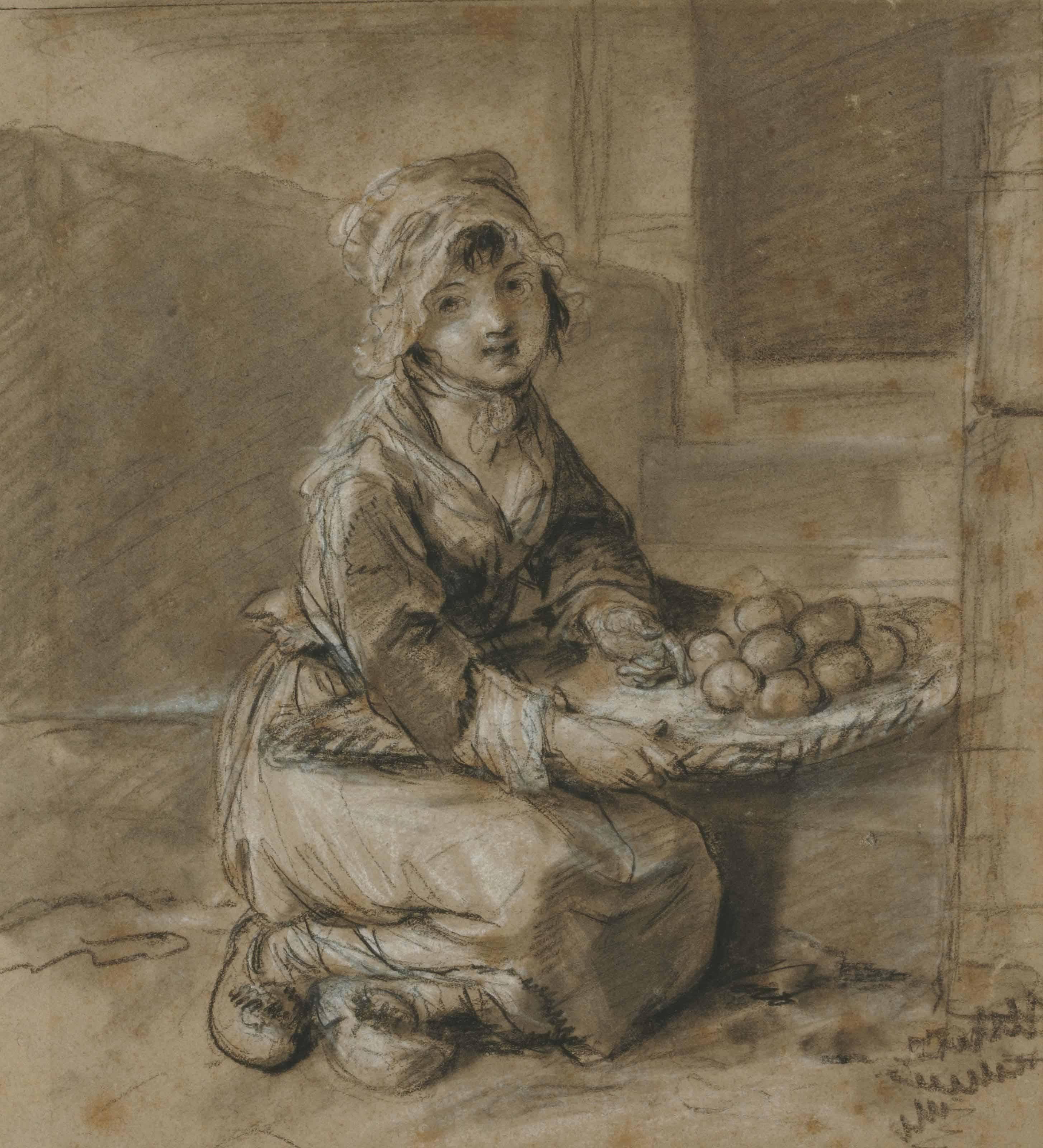 Jeune fille aux fruits