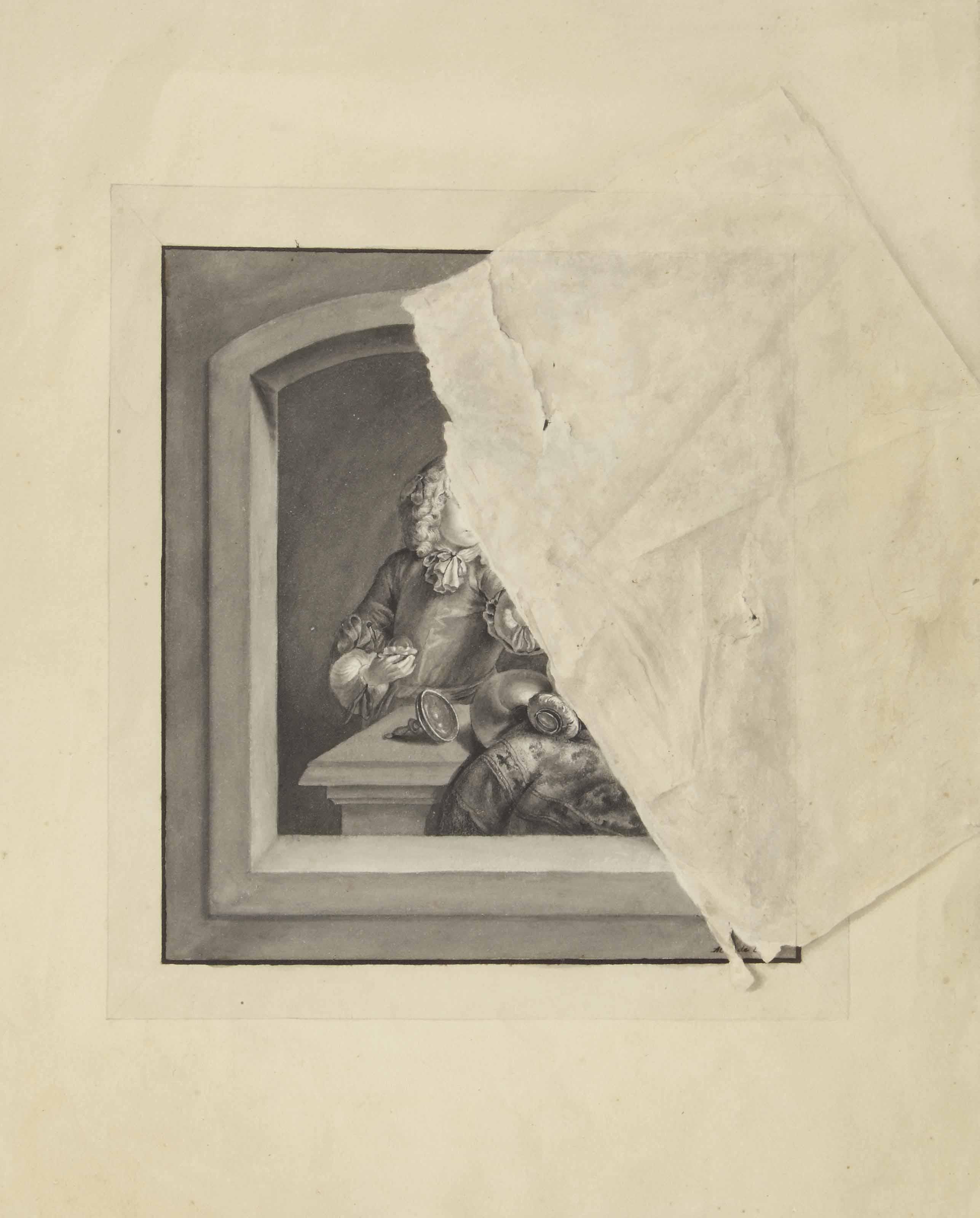 ecole francaise du xviiieme siecle trompe l 39 oeil christie 39 s. Black Bedroom Furniture Sets. Home Design Ideas