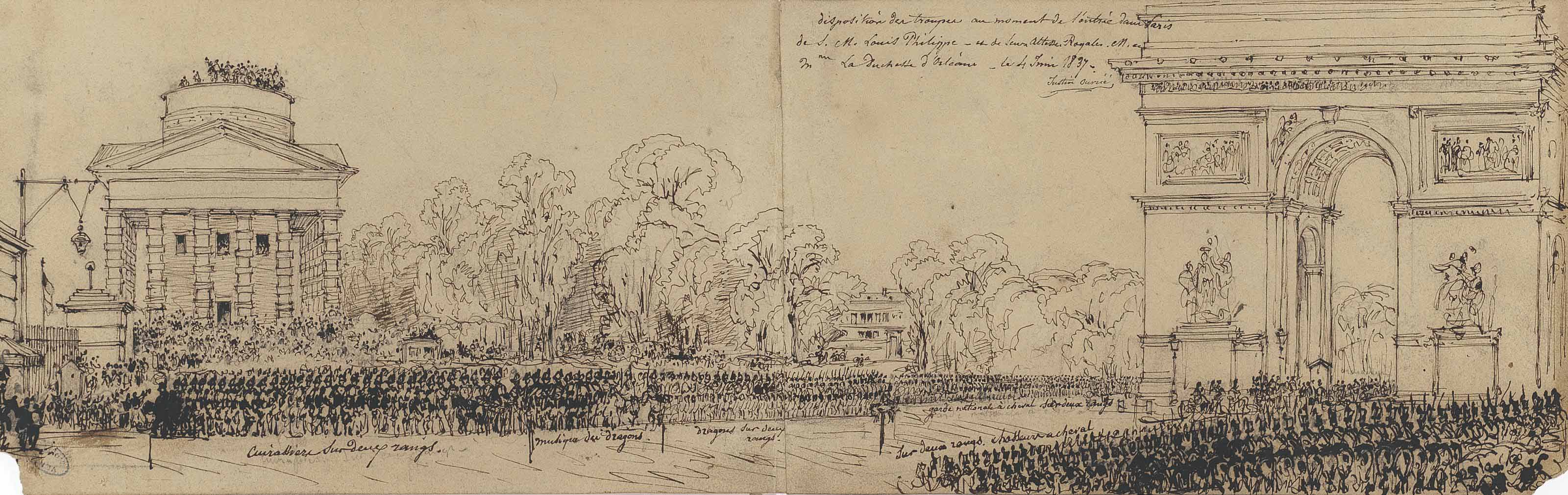 Louis-Philippe entrant dans Paris par l'Arc de Triomphe le jour de son mariage