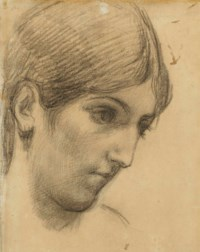 Etude de tête de femme, vue de profil