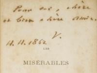 VICTOR HUGO. Les Misérables. Bruxelles: A. Lacroix, Verboeckhoven & Cie, 1862.