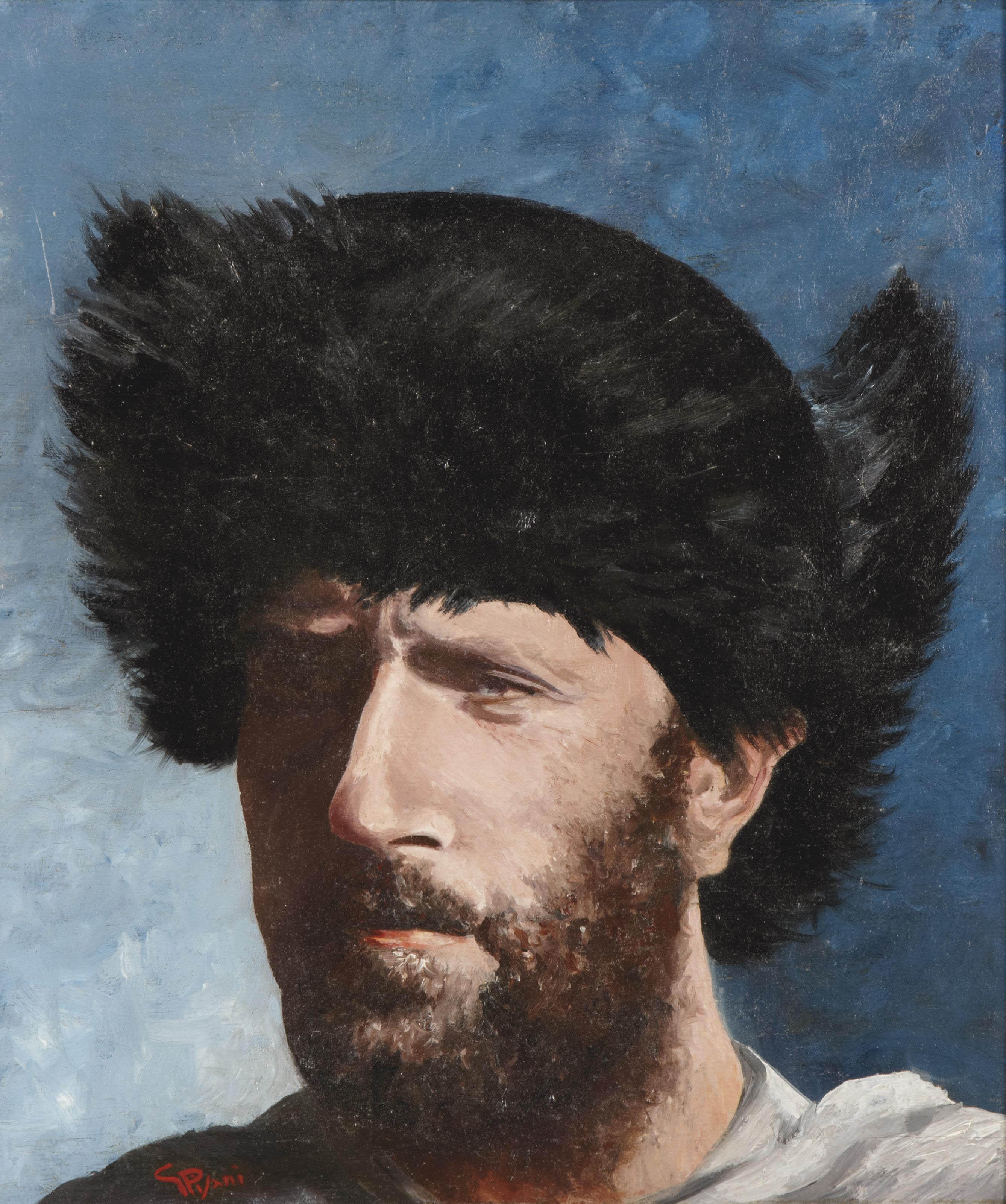 Portrait de Giuseppe Garibaldi portant une chapka