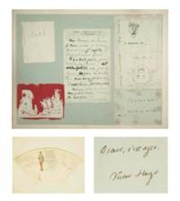 [PAULINE MÉNARD-DORIAN] -- Livre d'or de Pauline Ménard-Dorian (1870-1941), première femme de Georges Hugo qu'elle avait épousé en 1894. Ils tinrent ensemble l'un des salons les plus prisés de Paris. Ce livre d'or fut ensuite transmis à leur fils aîné Jean Hugo, qui en perpétua la tradition en y faisant signer certains de ses proches.