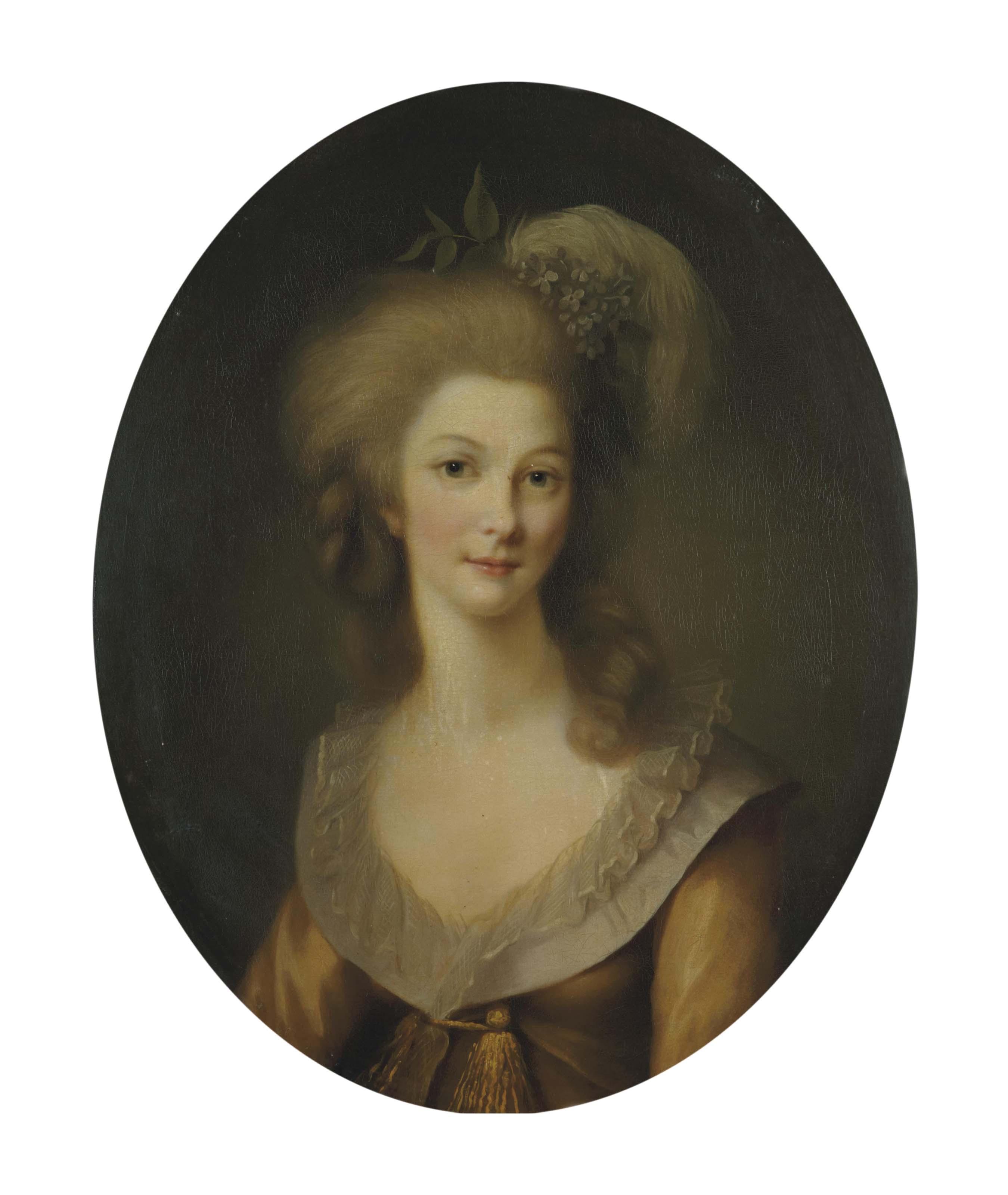 Portrait de Marie-Thérèse-Louise de Savoie-Carignan, princesse de Lamballe