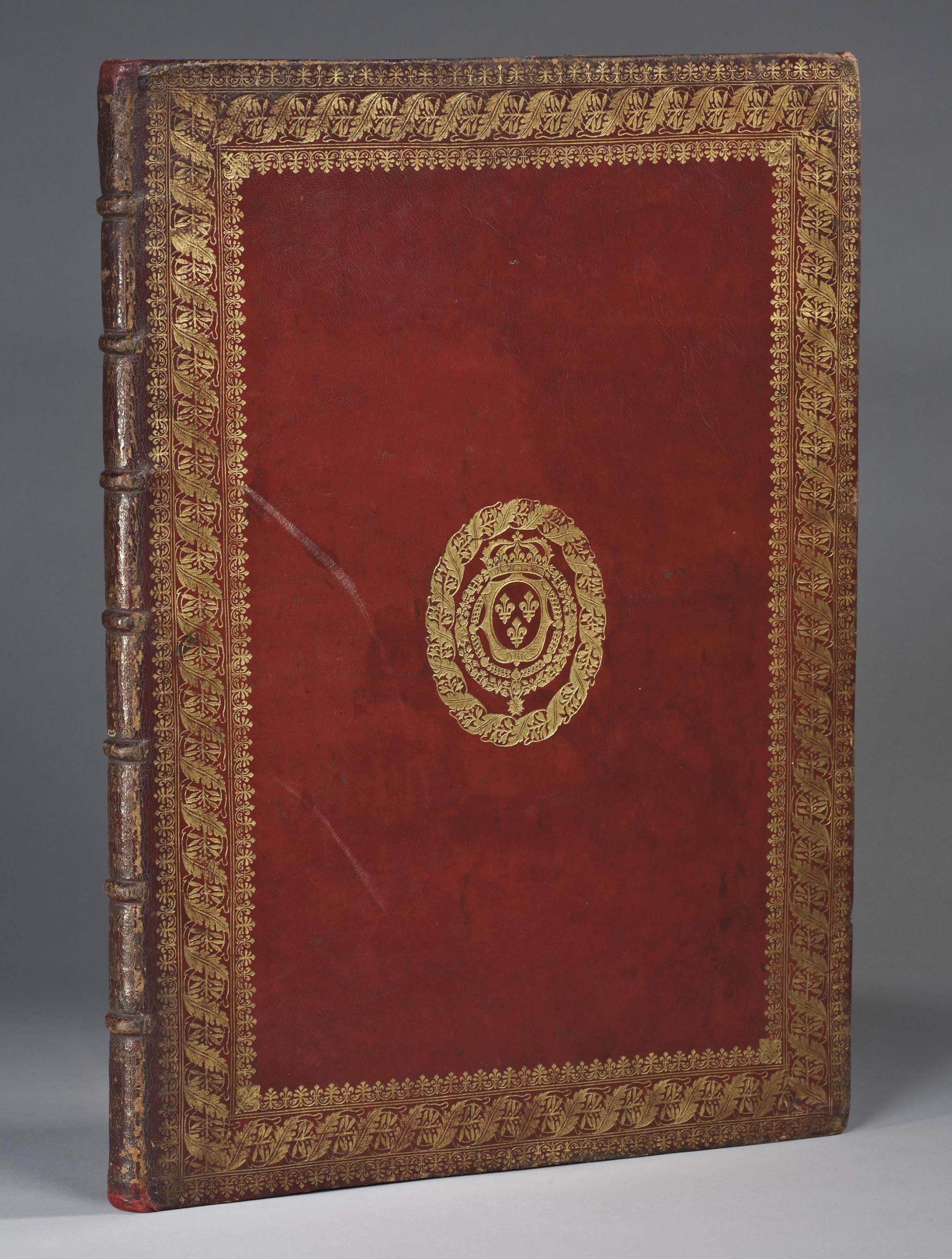 [CABINET DU ROI] -- PERRAULT, CHARLES (1628-1703). FESTIVA AD CAPITA ANNULUMQUE DECURSIO, A REGE LUDOVICO XIV PRINCIPIBUS... PARIS: IMPRIMERIE ROYALE, 1670.