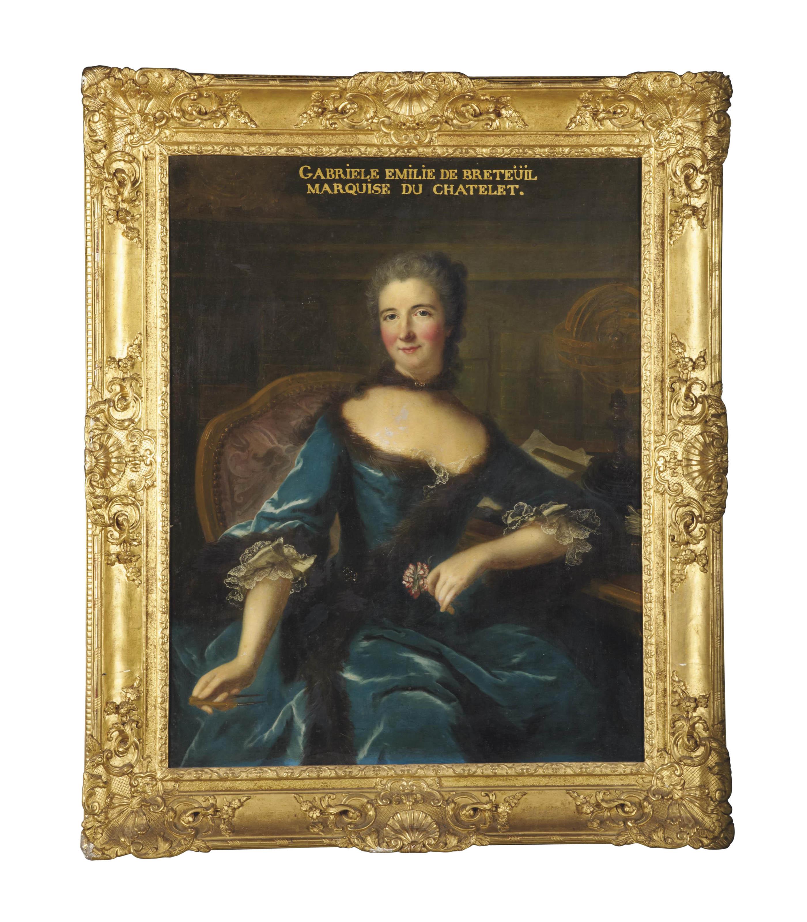 Portrait de Gabrielle Émilie Le Tonnelier de Breteuil, marquise du Châtelet