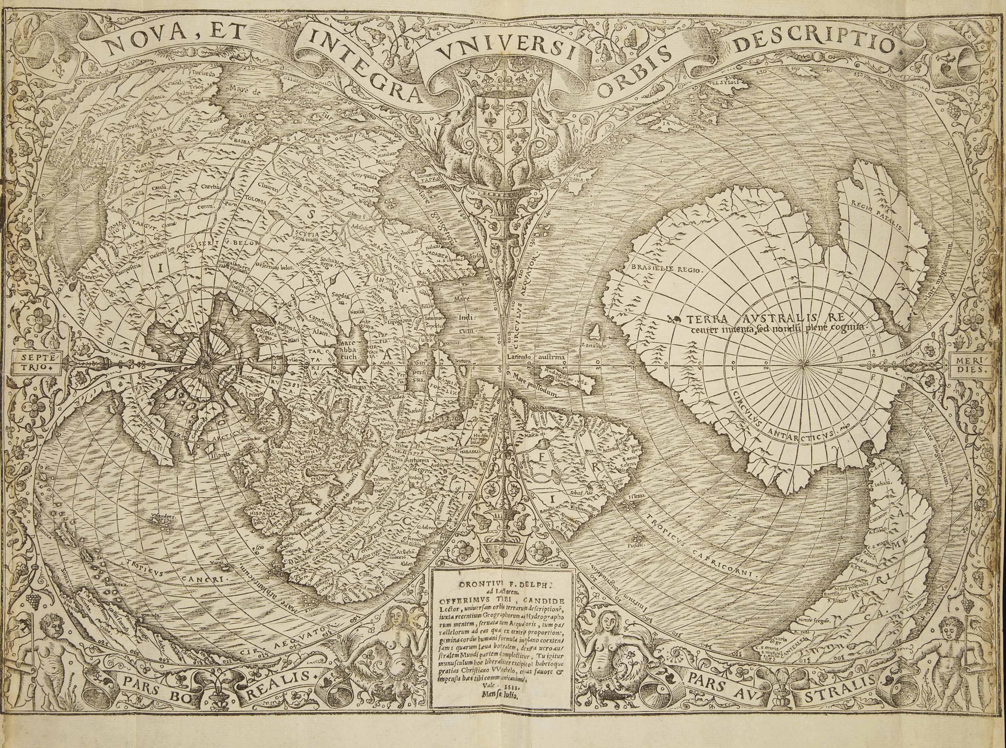 MELA, Pomponius (Ier siècle après J.C.). De orbis situ. Paris : [Christian Wechel], juin 1530.