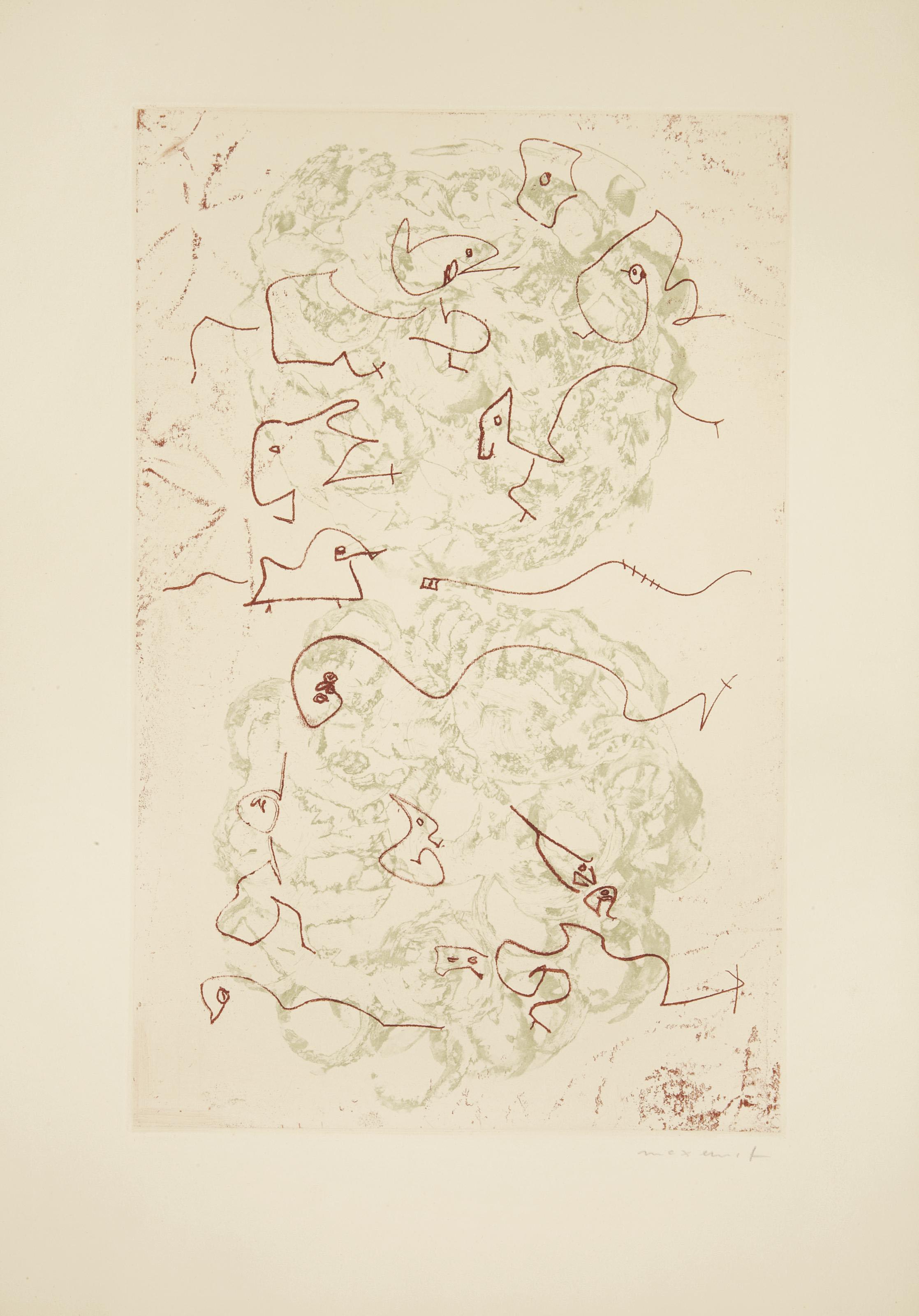[ERNST] -- PRÉVERT, Jacques (1900-1977). Les Chiens ont soif. Paris: Au Pont des Arts, 1964.