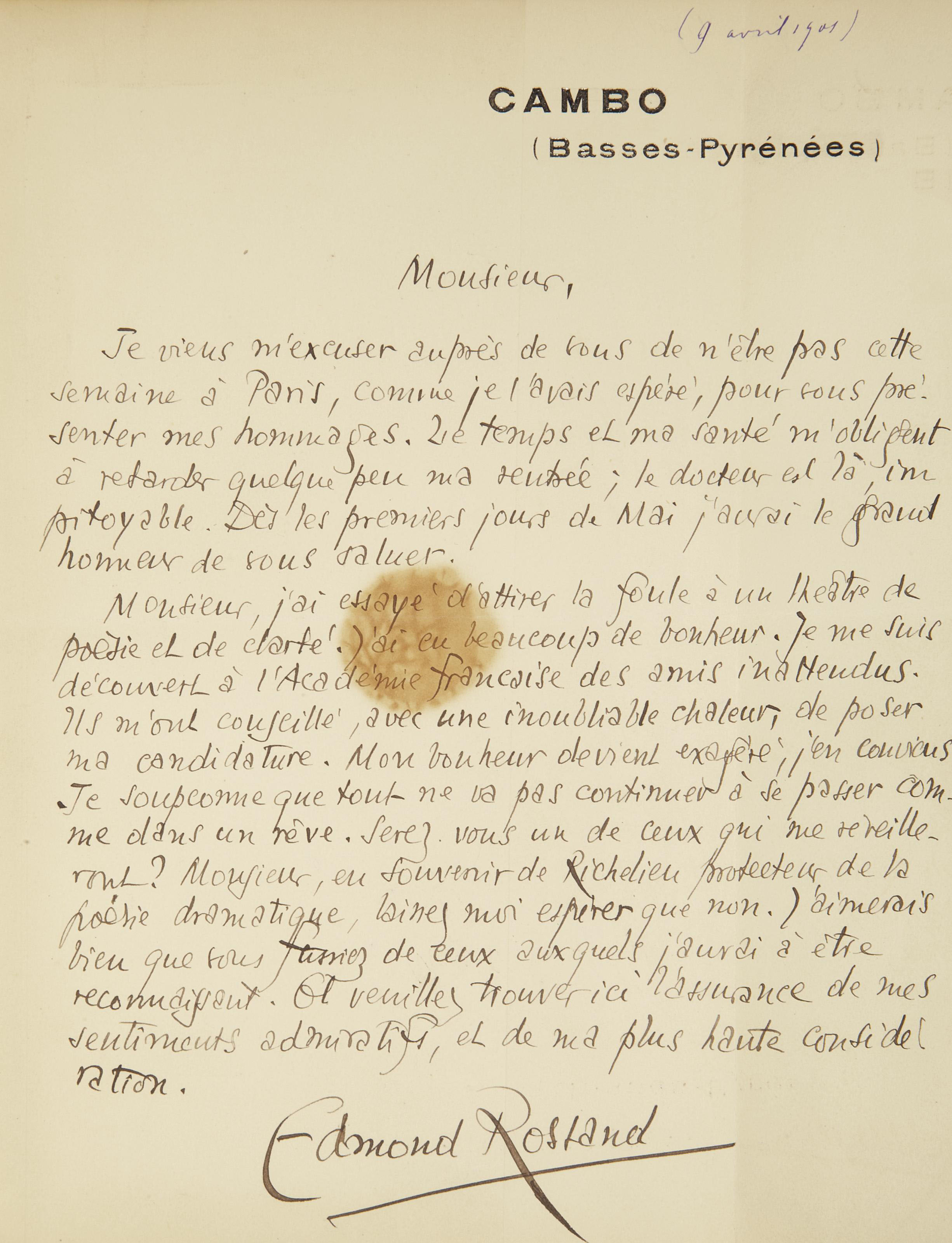 ROSTAND, Edmond (1868-1918). L'Aiglon. Paris: Charpentier et Fasquelle, 1900.