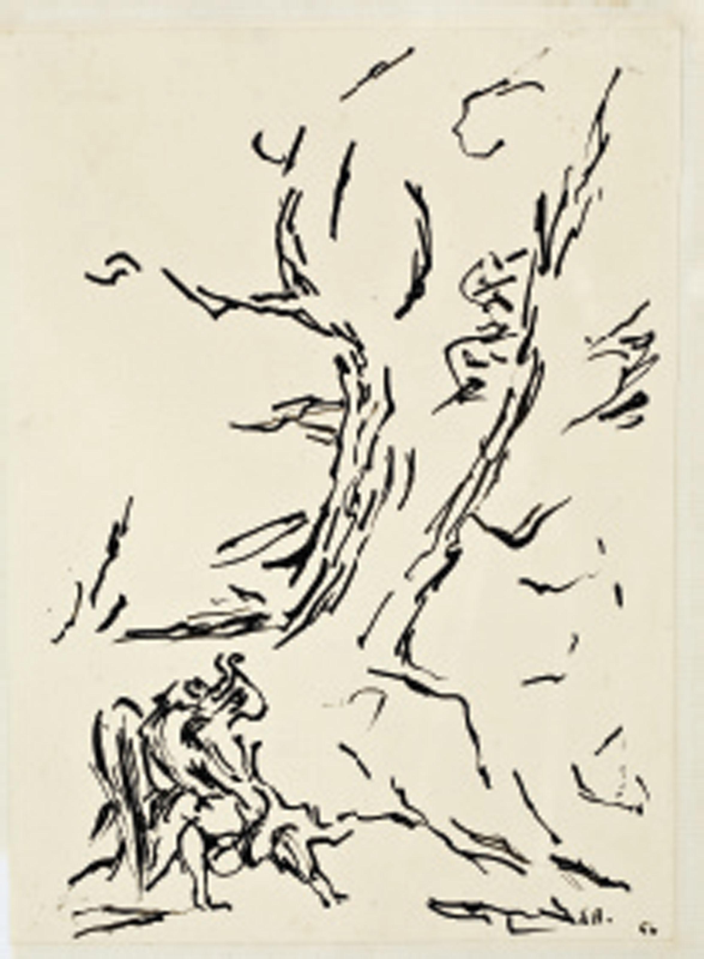 La lutte de Jacob avec l'ange (d'après Delacroix)