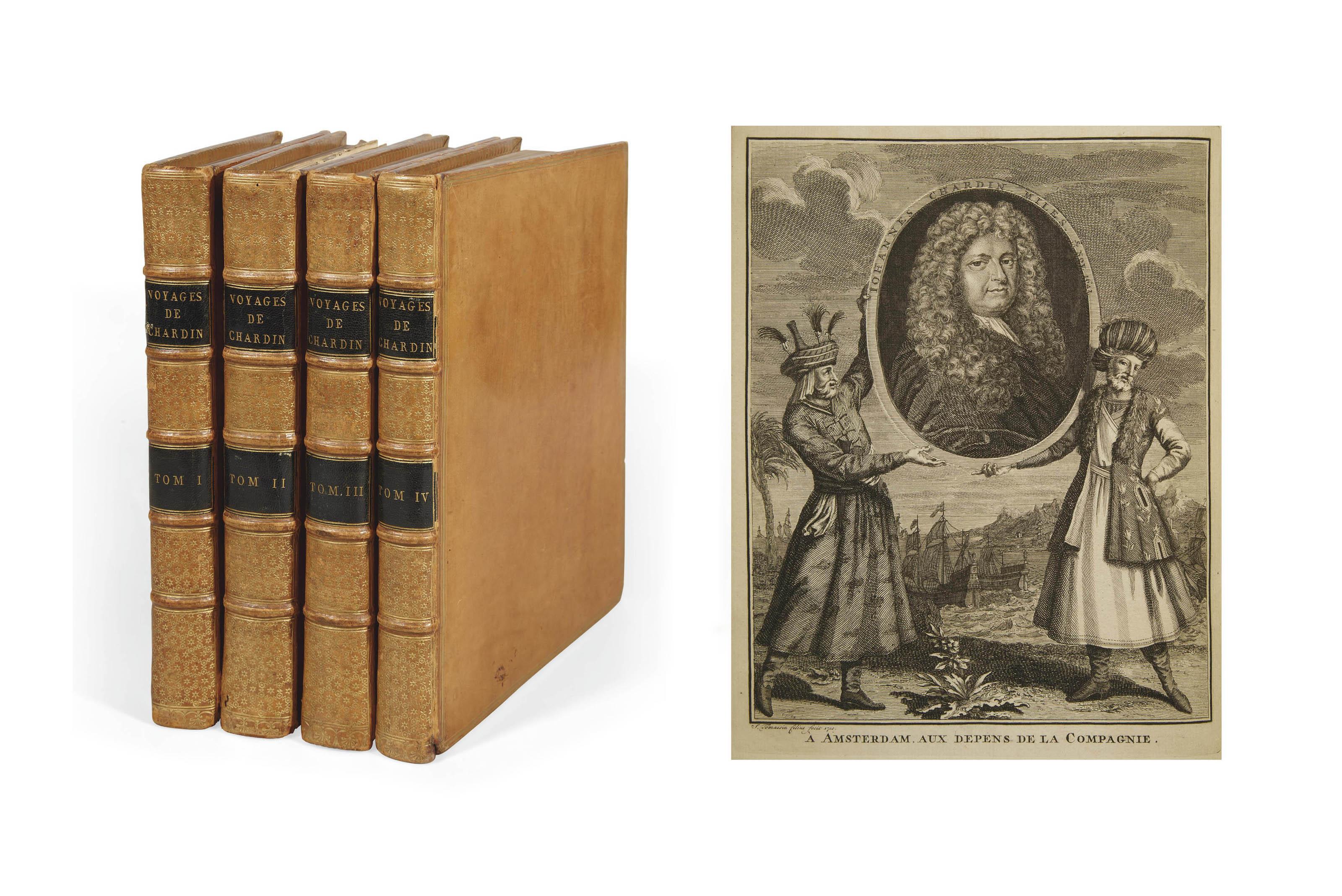 CHARDIN, Jean (1643-1713). Voyages en Perse, et autres lieux de l'Orient. Nouvelle édition, augmentée du couronnement de Soliman II... Amsterdam: La compagnie, 1735.