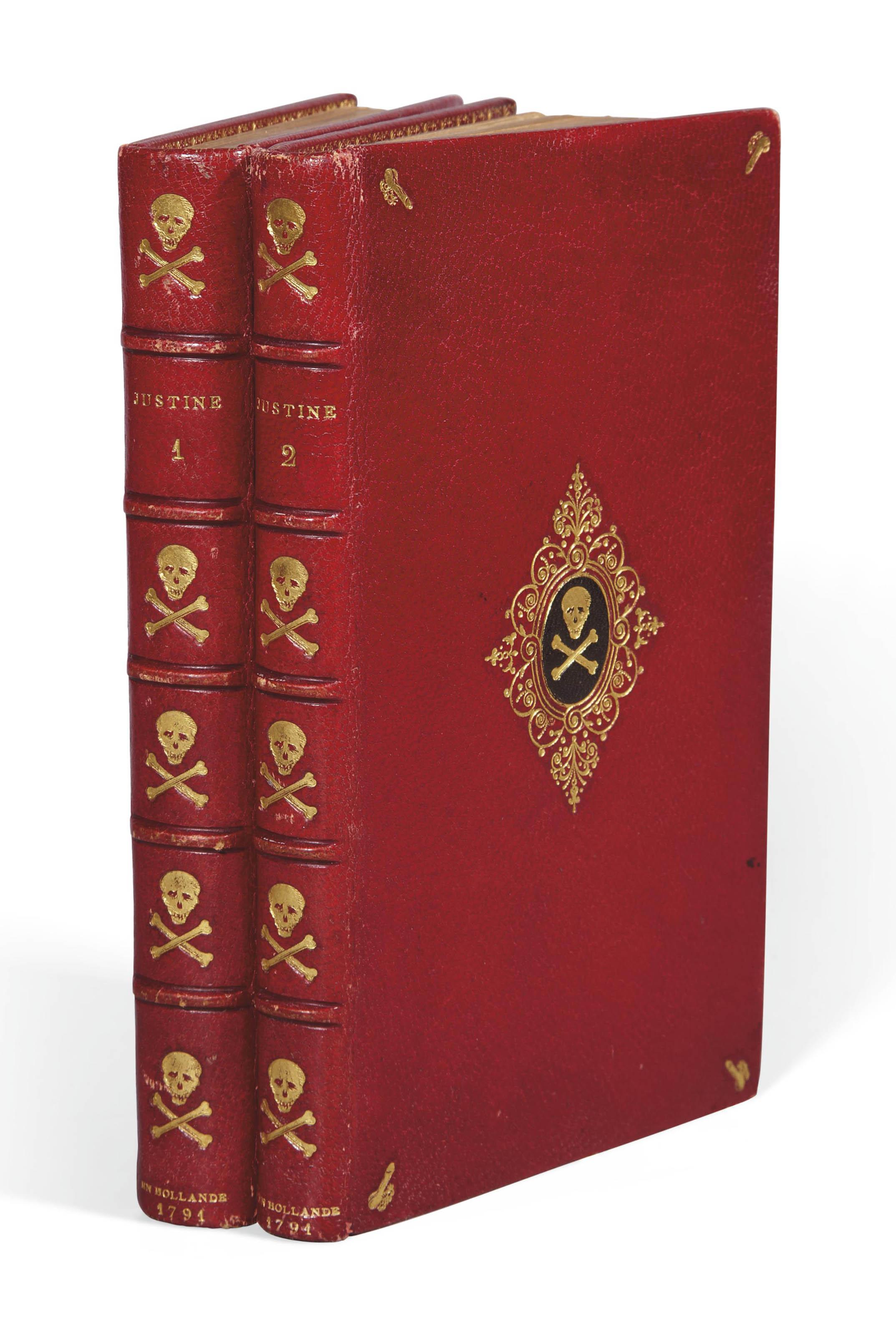 [SADE, Donatien Alphonse François, marquis de (1740-1814)]. Justine ou Les Malheurs de la Vertu. En Hollande: Chez les Libraires Associés, [Paris : Girouard ?] 1791.