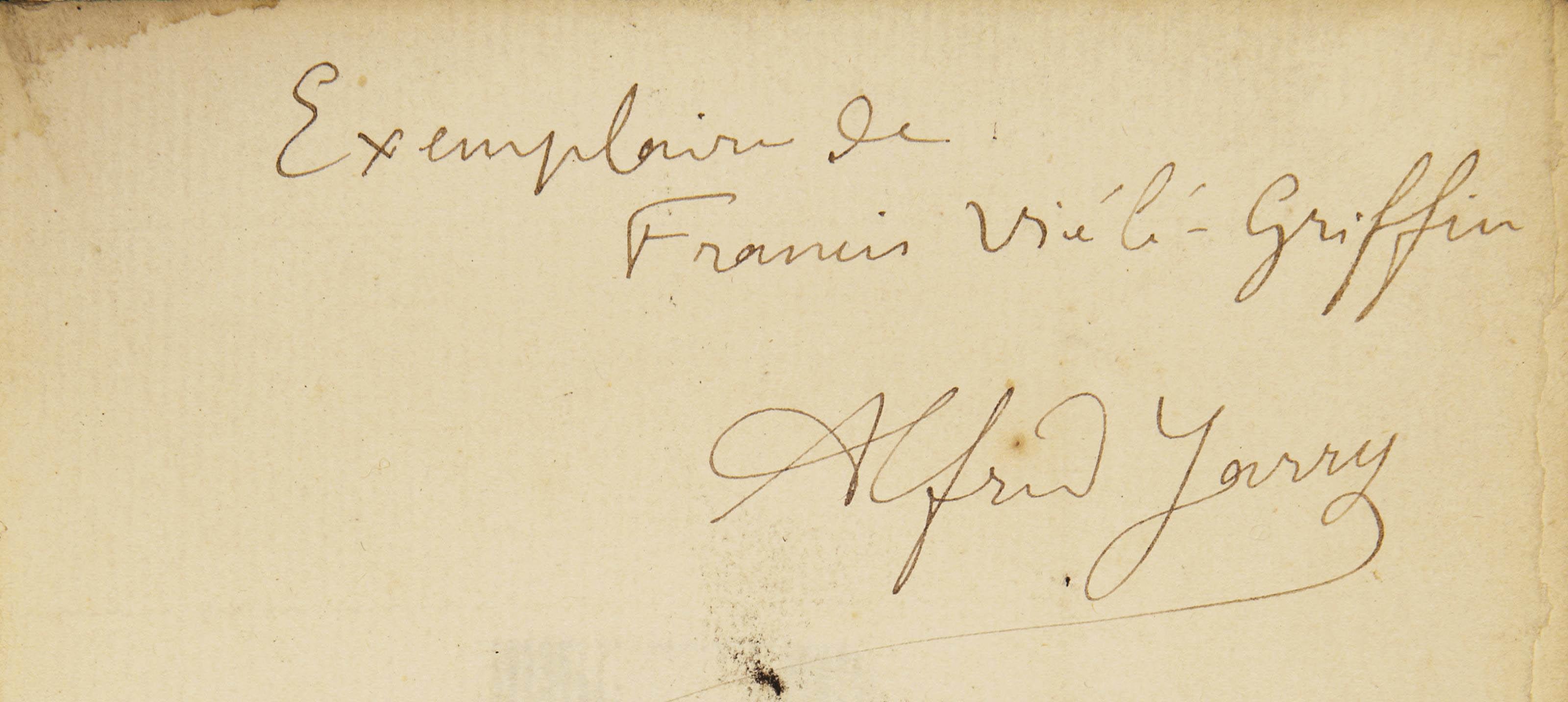 JARRY, Alfred (1873-1907). Les Minutes de sable. Mémorial. Paris: C. Renaudie pour le Mercure de France, 1894.