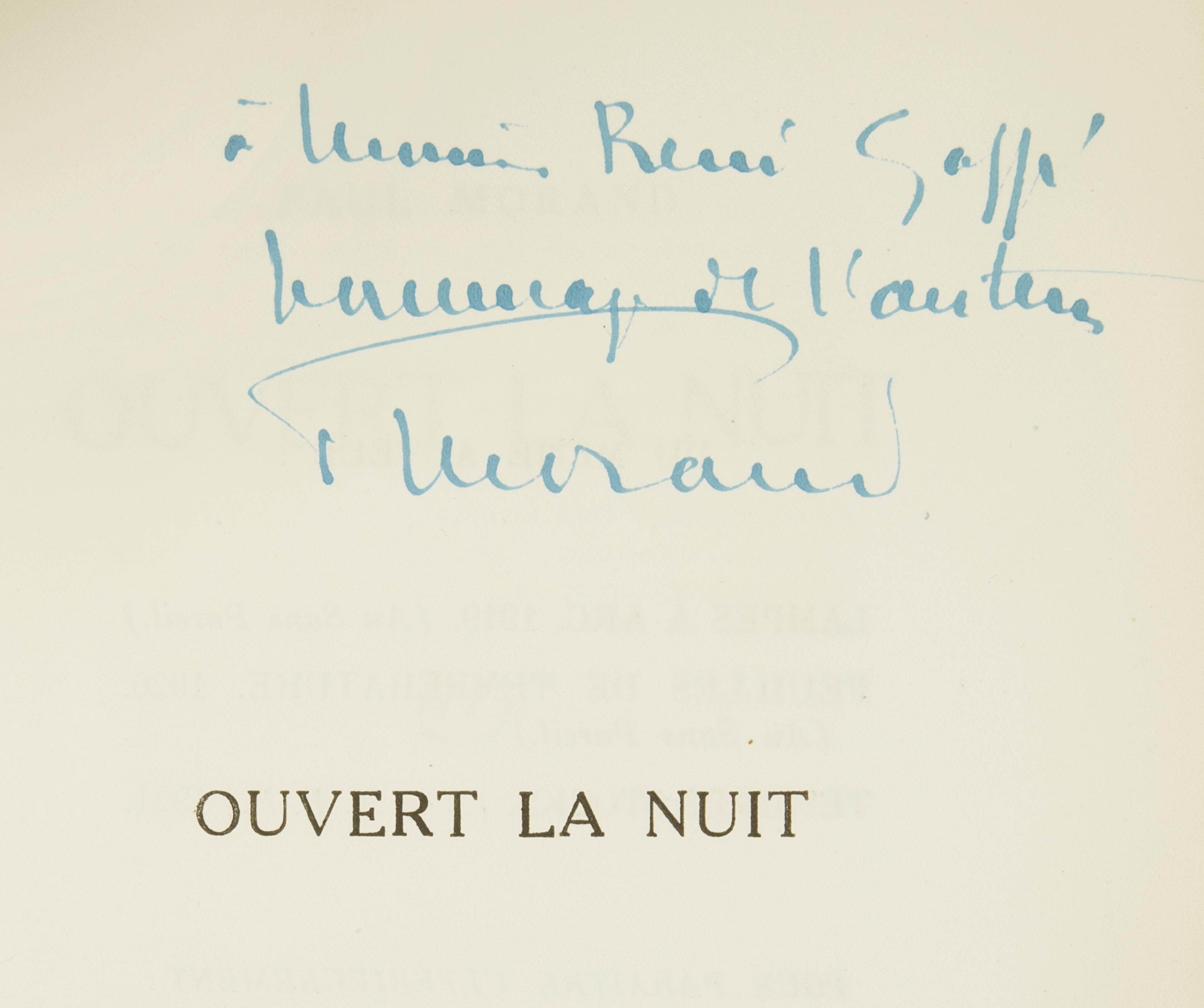 MORAND, Paul (1888-1976). Ouvert la nuit. Paris: NRF, 1922.