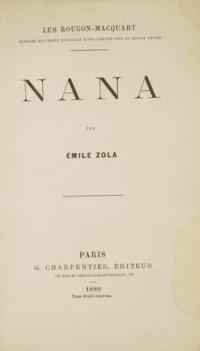 ZOLA, Émile (1840-1902). Nana. Les Rougon-Macquart IX. Paris: Capiomont pour Charpentier, 1880.