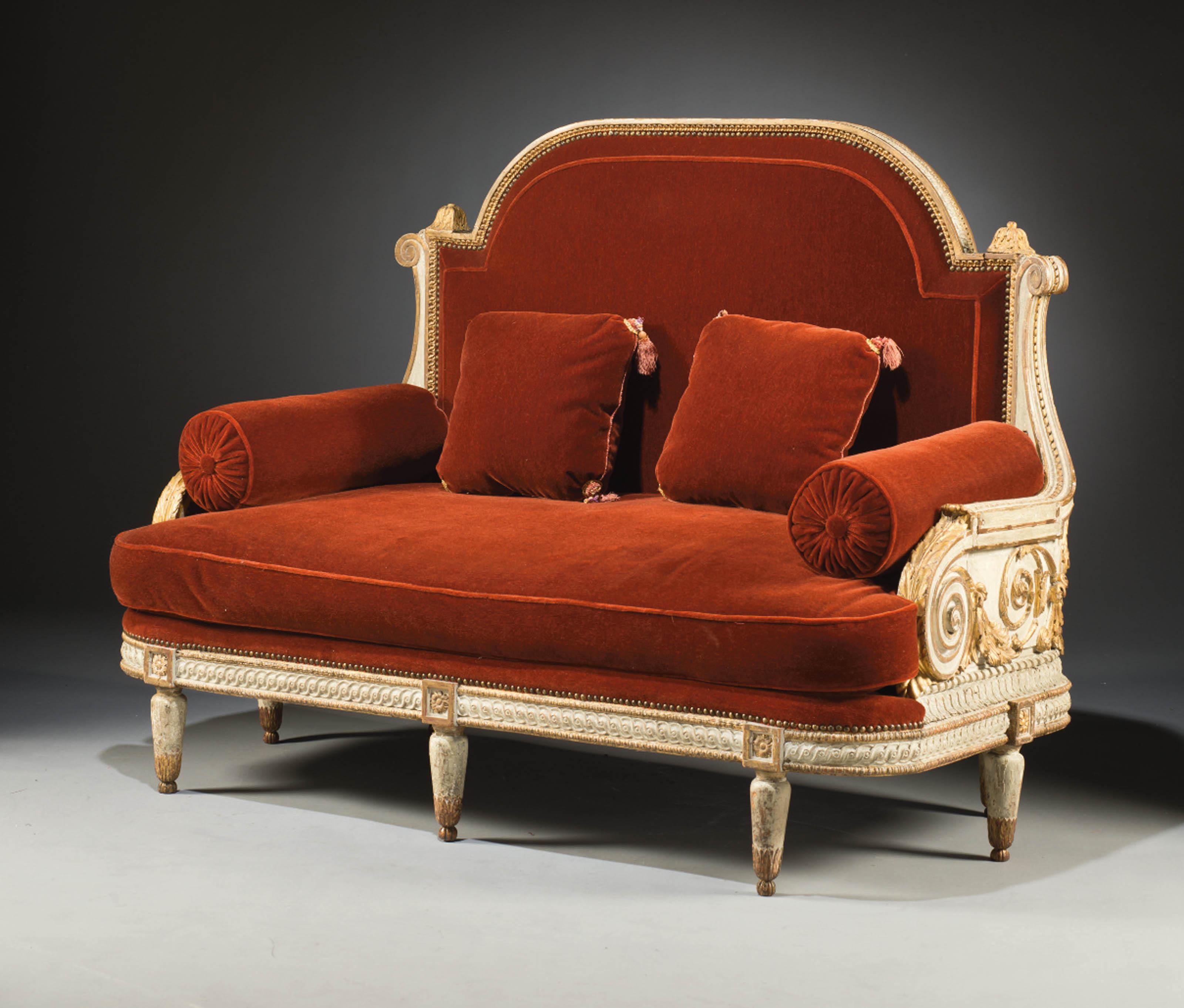 canape neoclassique comprenant des elements d 39 epoque louis xvi christie 39 s. Black Bedroom Furniture Sets. Home Design Ideas