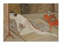 Japonaise à la table rouge