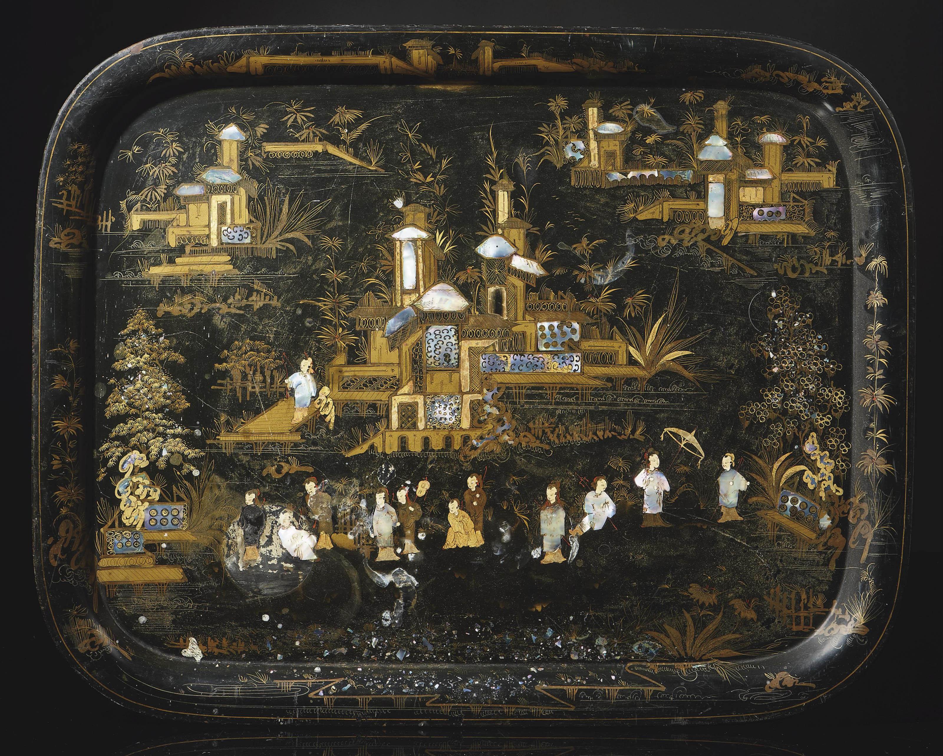 plateau d 39 epoque napoleon iii troisieme quart du xixeme siecle christie 39 s. Black Bedroom Furniture Sets. Home Design Ideas