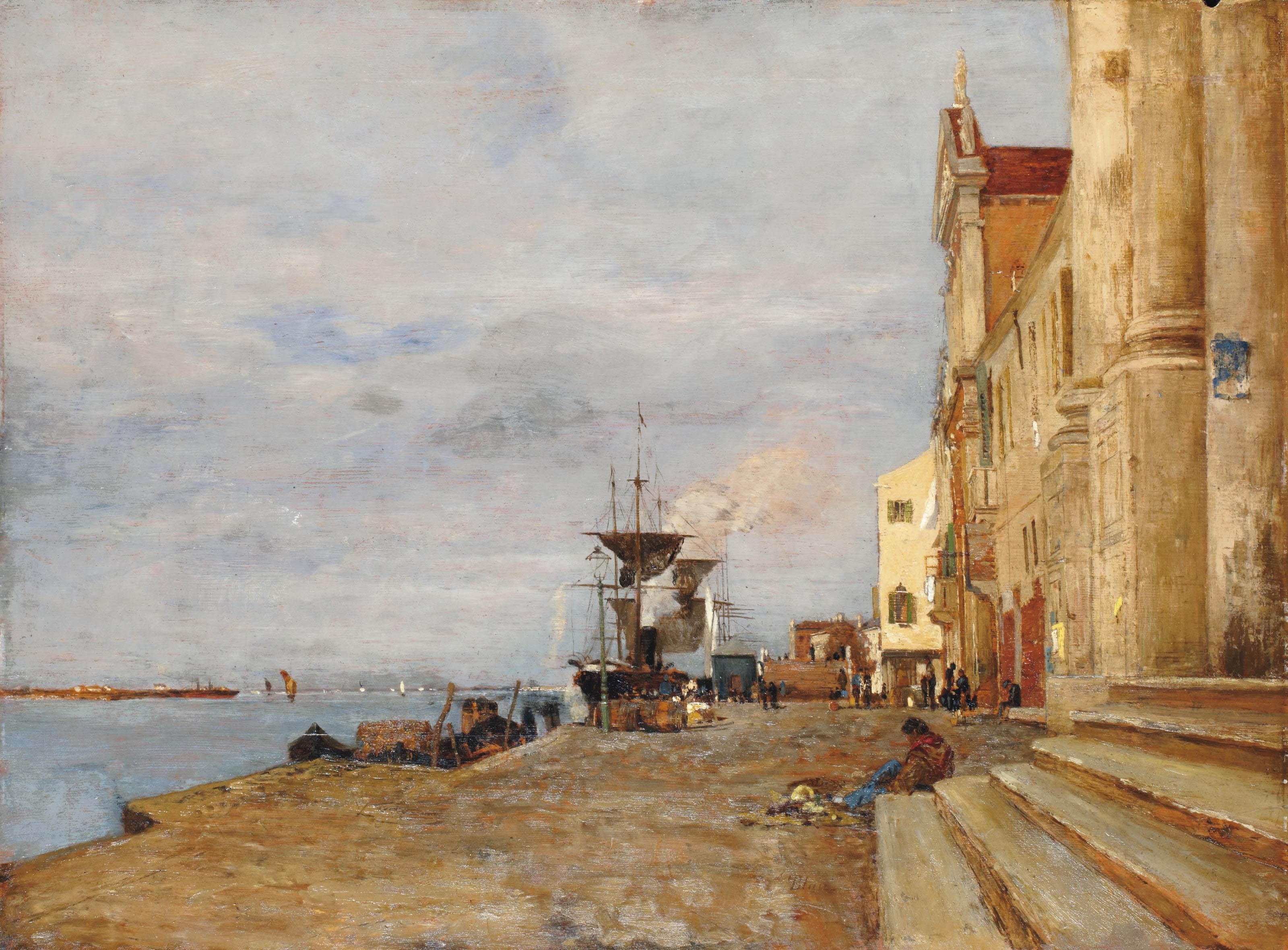 Vue d'un petit port en Italie