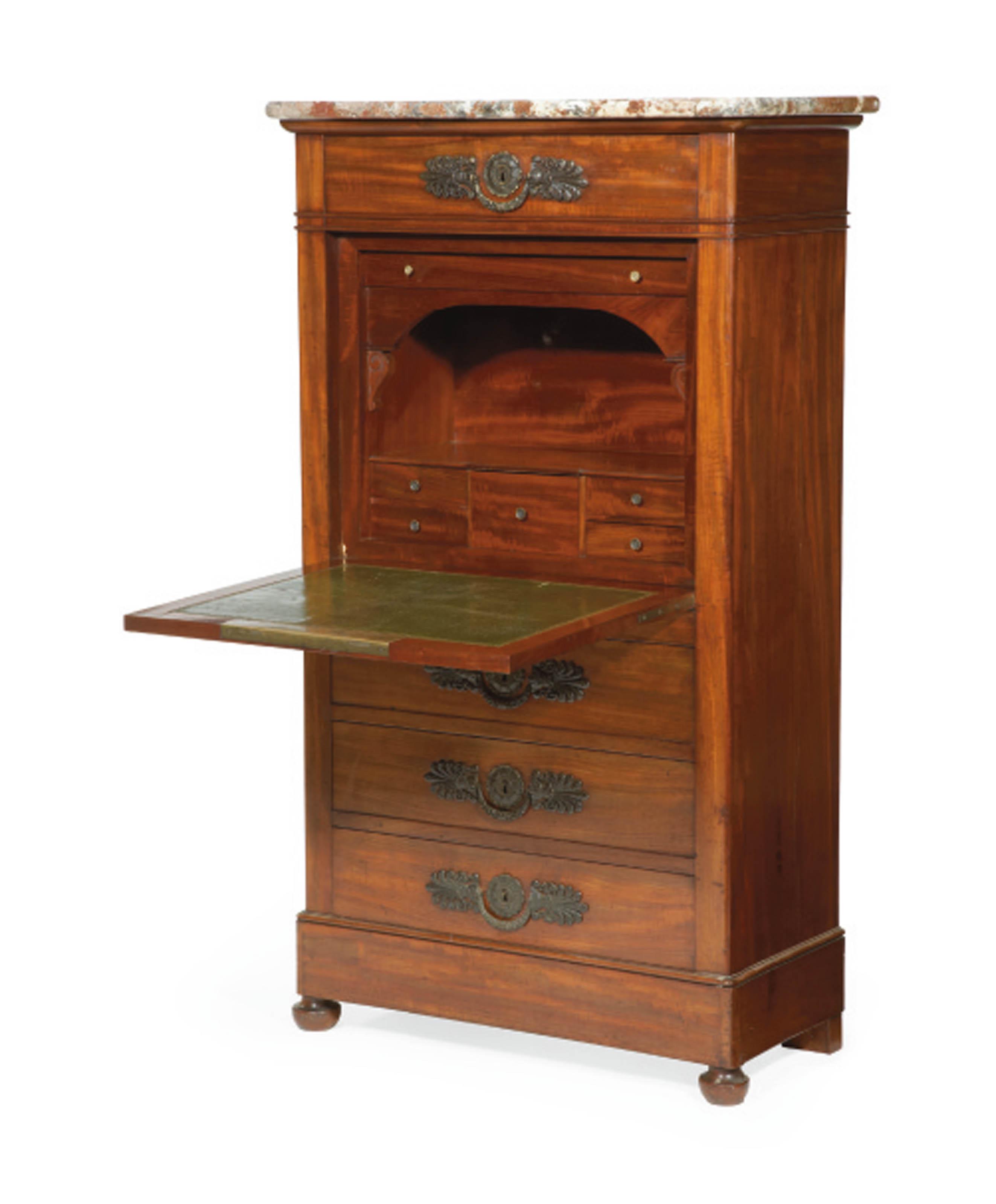 secretaire a abattant d 39 epoque restauration attribue a jean jacques werner deuxieme quart du. Black Bedroom Furniture Sets. Home Design Ideas