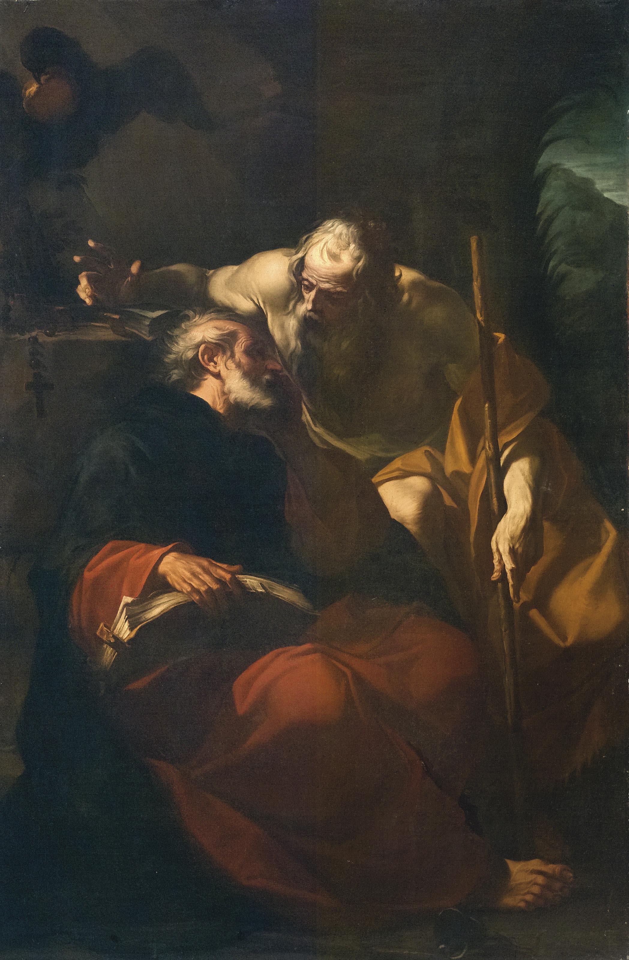 San Benedetto e un eremita