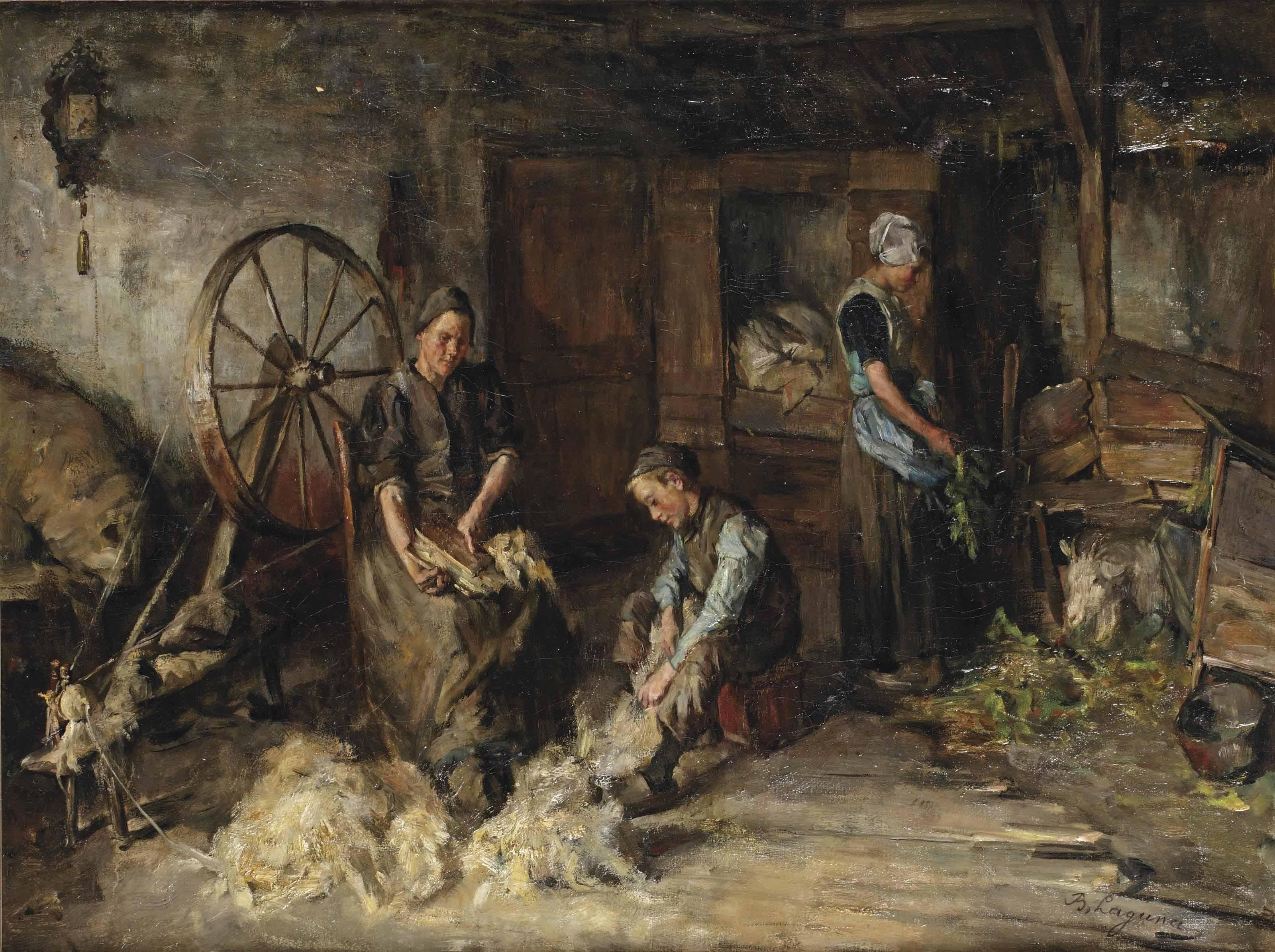 Daily activities around the spinning wheel