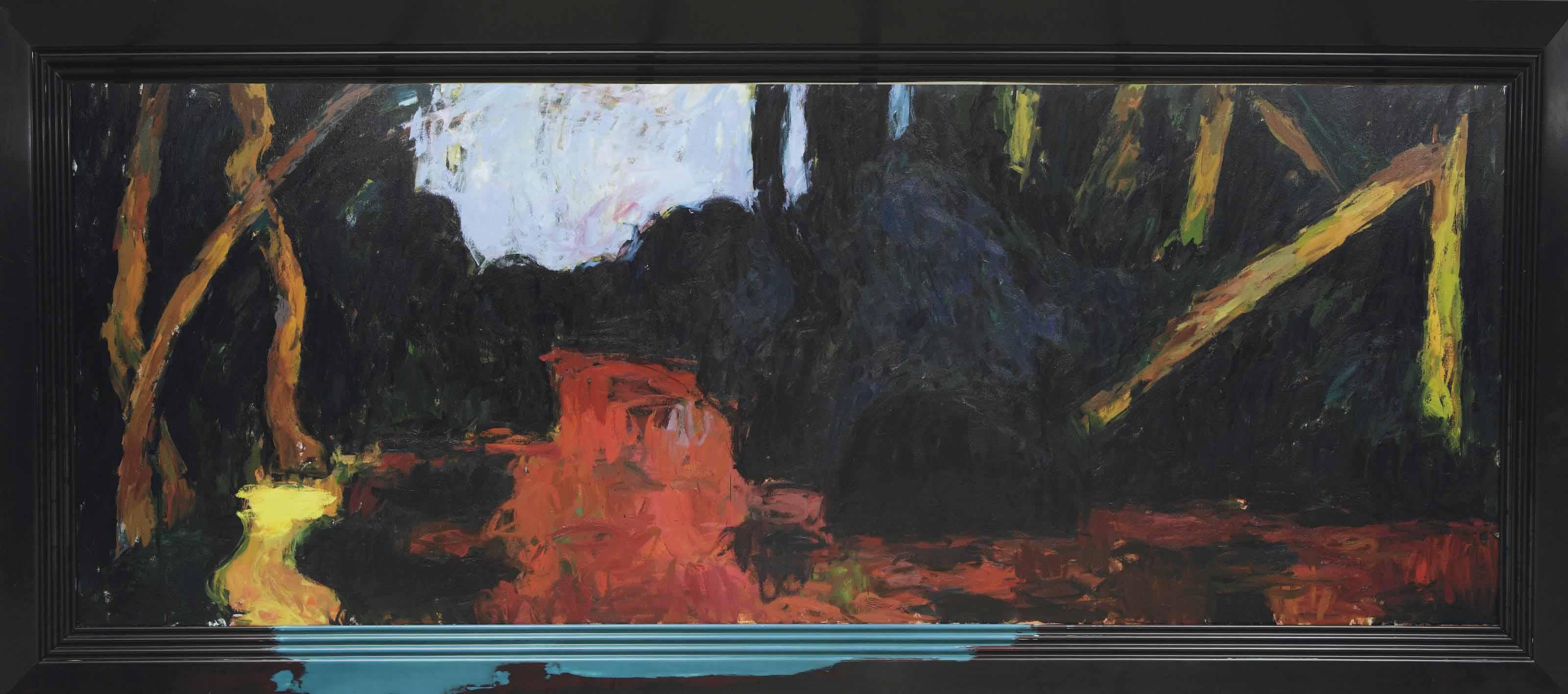 Dark landscape - Banks of a winding brook