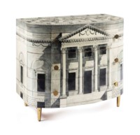 An Italian lithographically-printed and hand-painted wood commode 'Palladina'