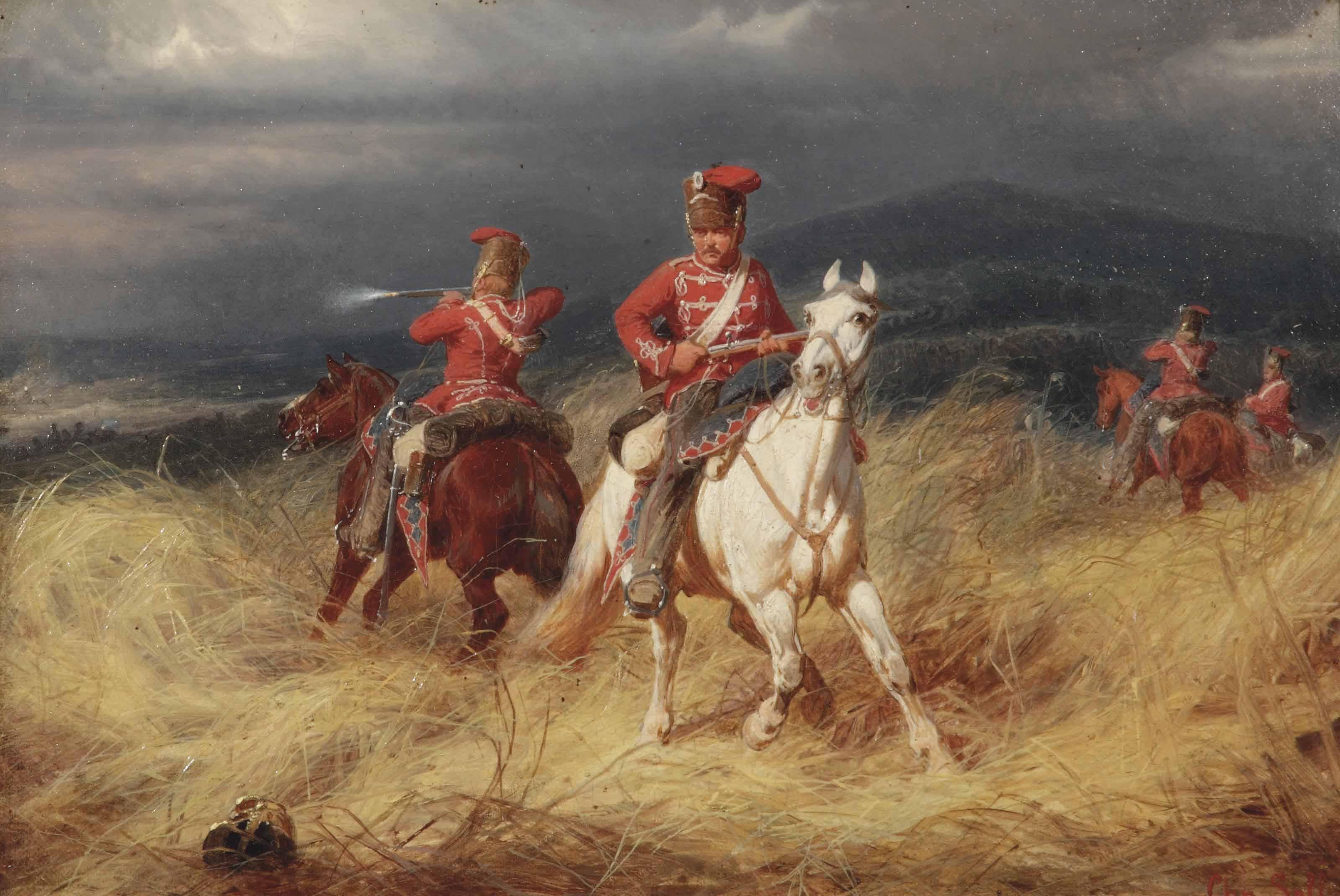 Hussars in battle