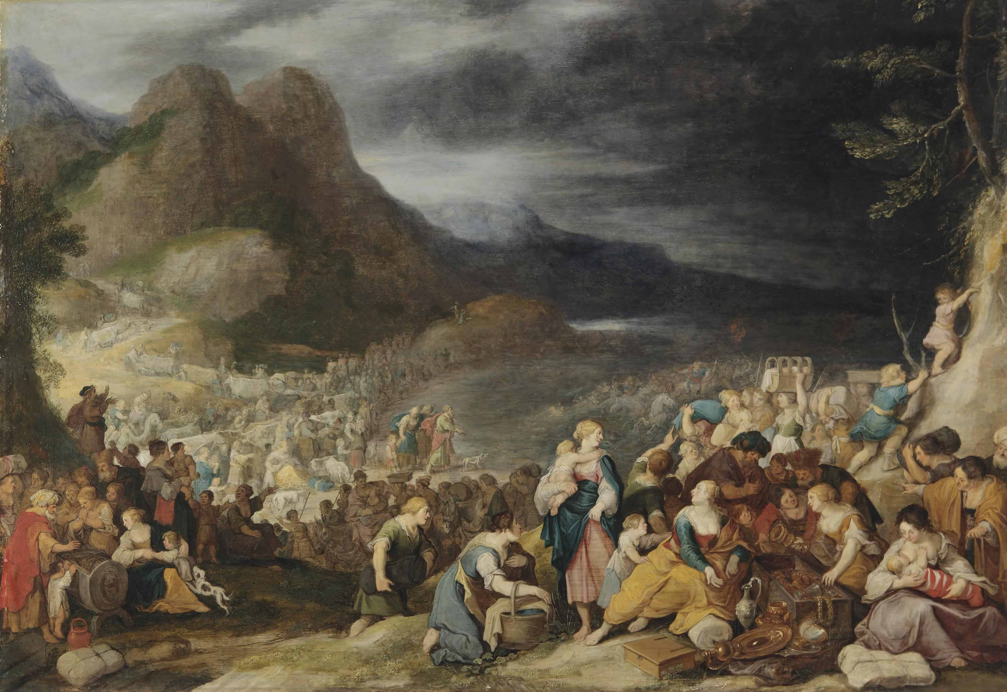 Moses Parting the Red Sea Bible Story Study Guide |The Red Sea Crossing Heston