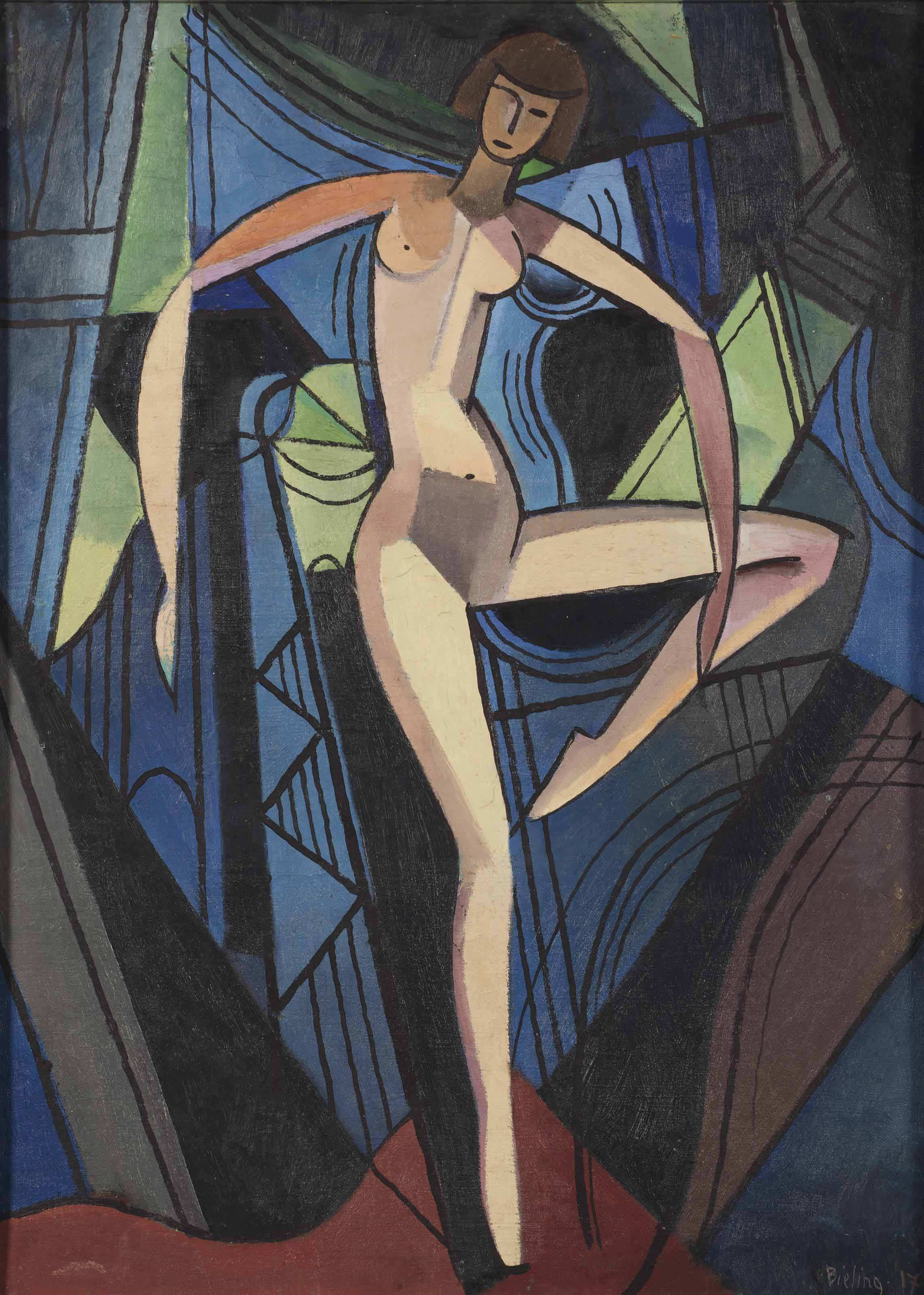A dancing nude