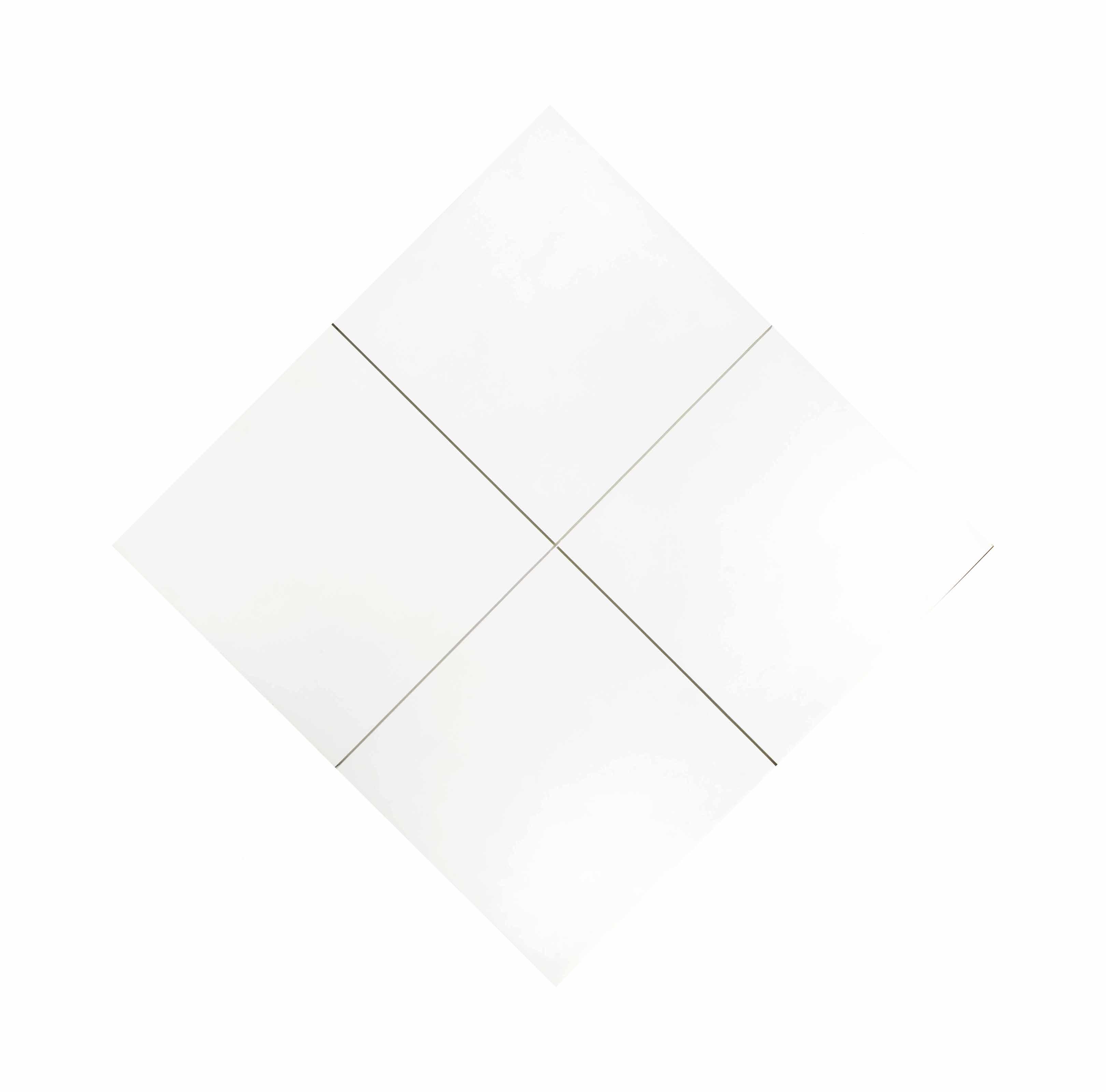 Reliëf met middellijnen (vierkant met zaagsneden middellijnen)
