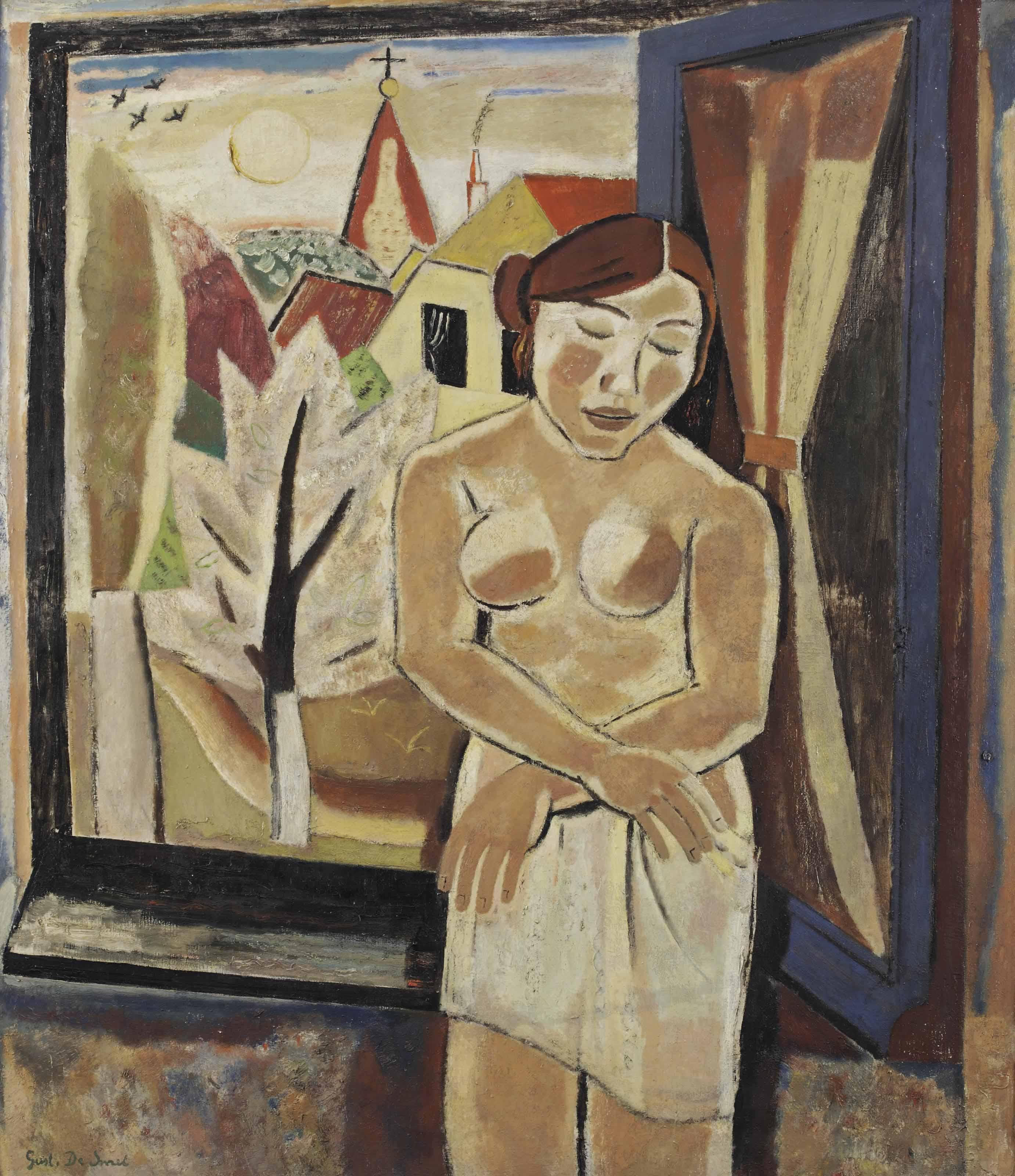 Nude by a window