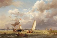 A Danish merchant on the IJ before Amsterdam