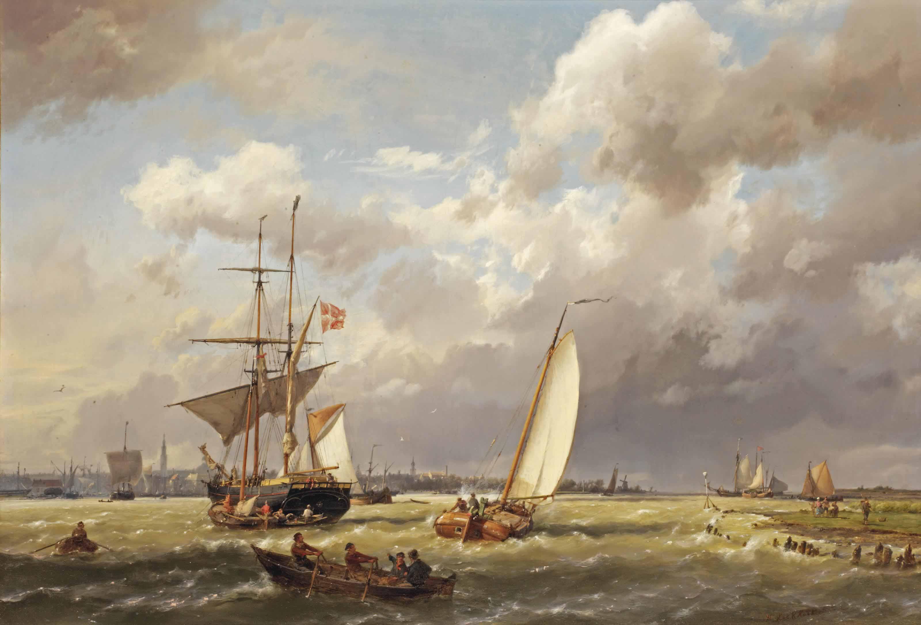 A Danish merchant on the IJ before Amsterdam