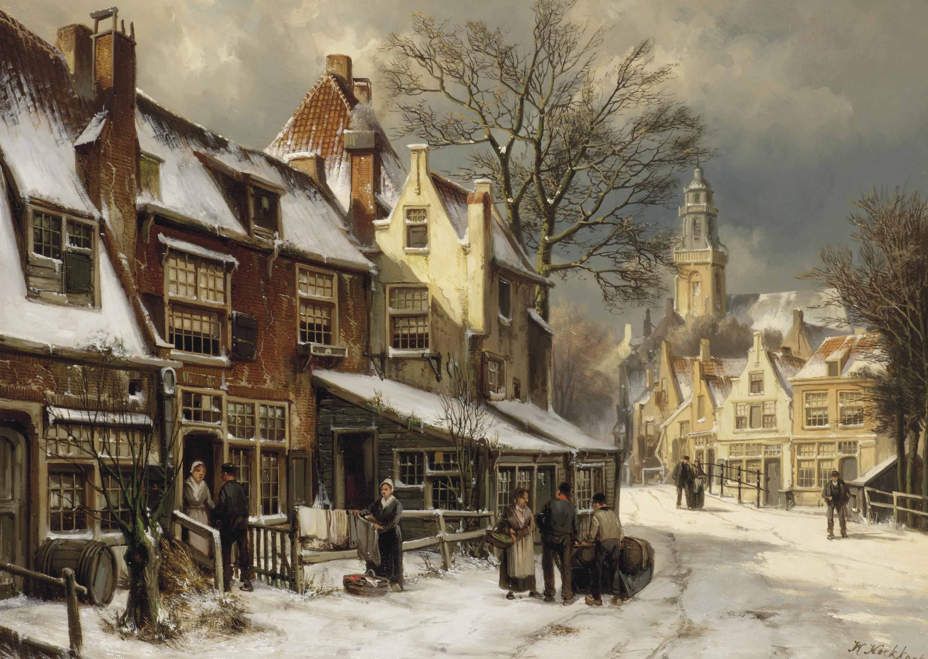 A Dutch town in winter