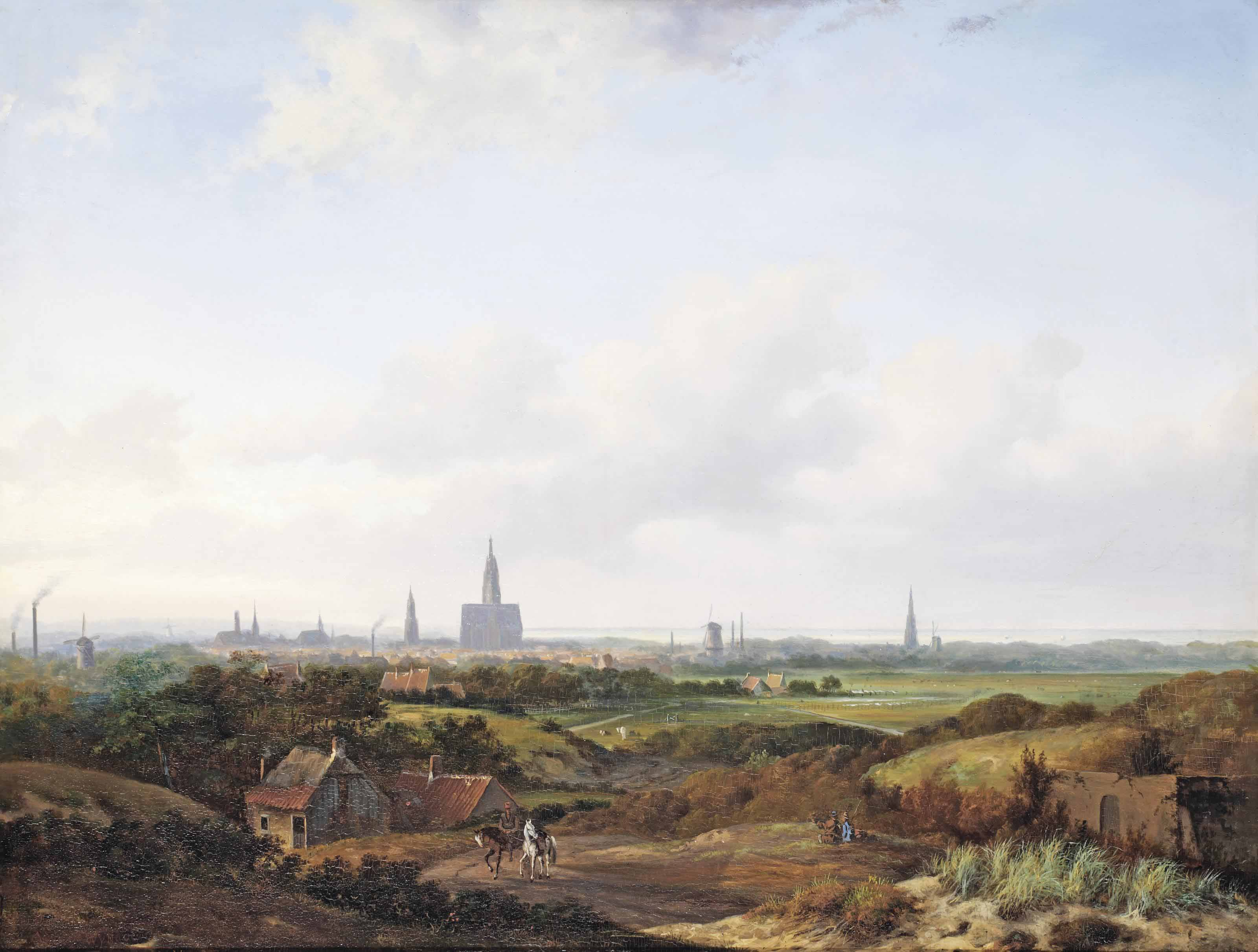 A panoramic view of Haarlem