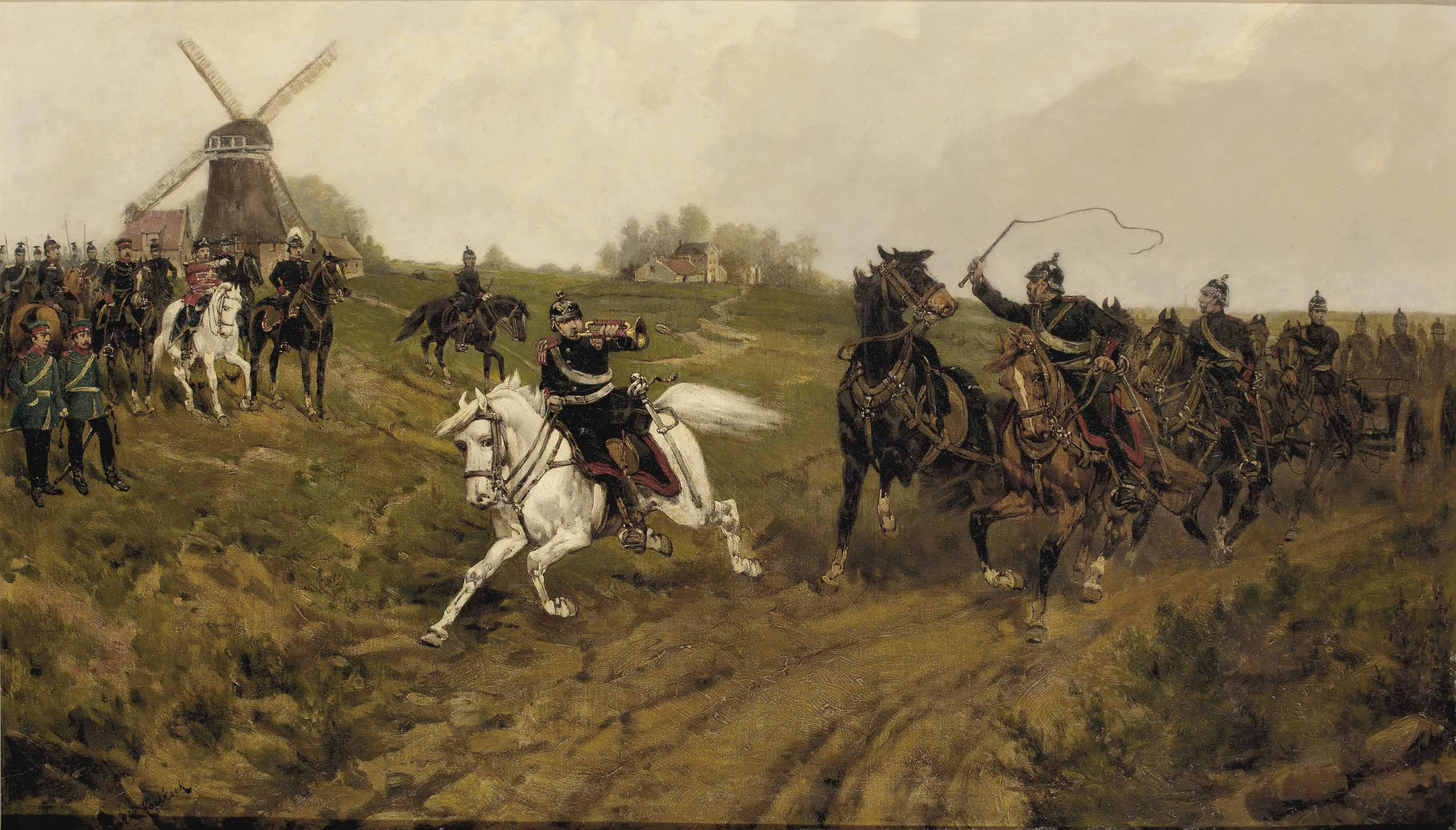 The cavalry drill