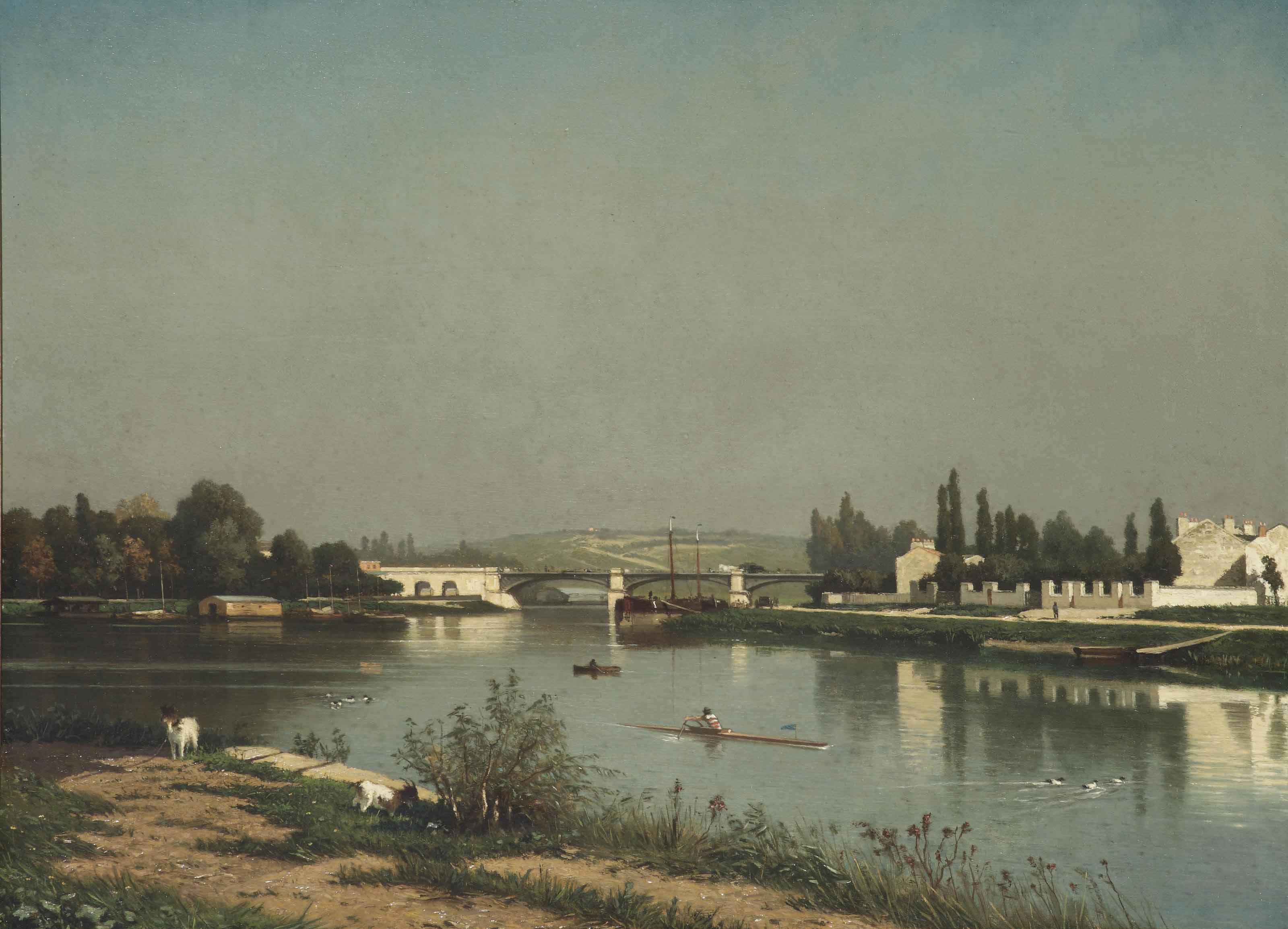 Seine bij Châtillon: Seine near Châtillon