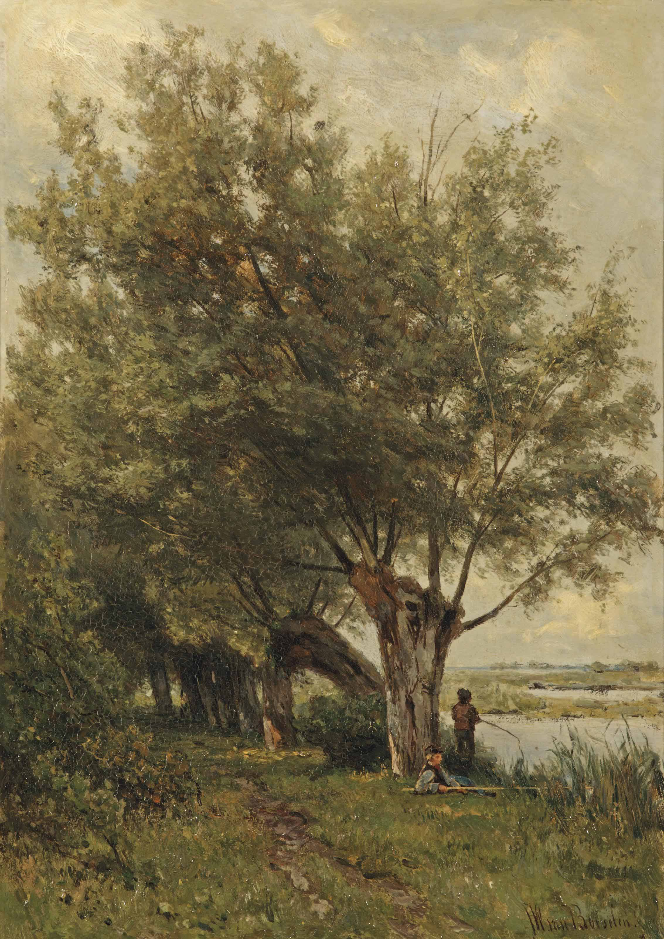 Fishing under the willows
