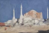 Minarets; The Hagia Sophia, Istanbul