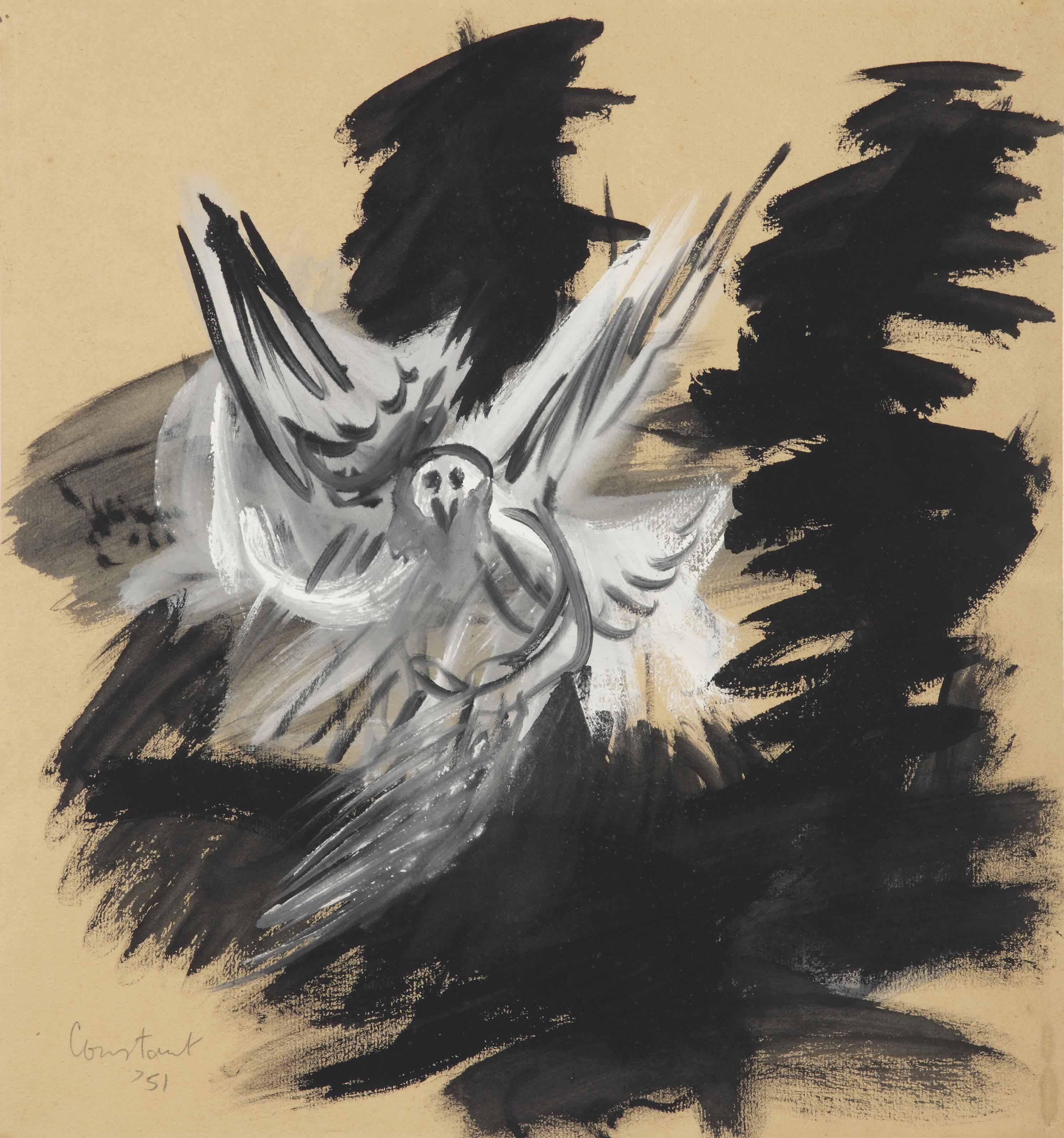 Verstrikte vogel (Wounded bird)