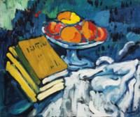 Nature morte aux livres et au compotier