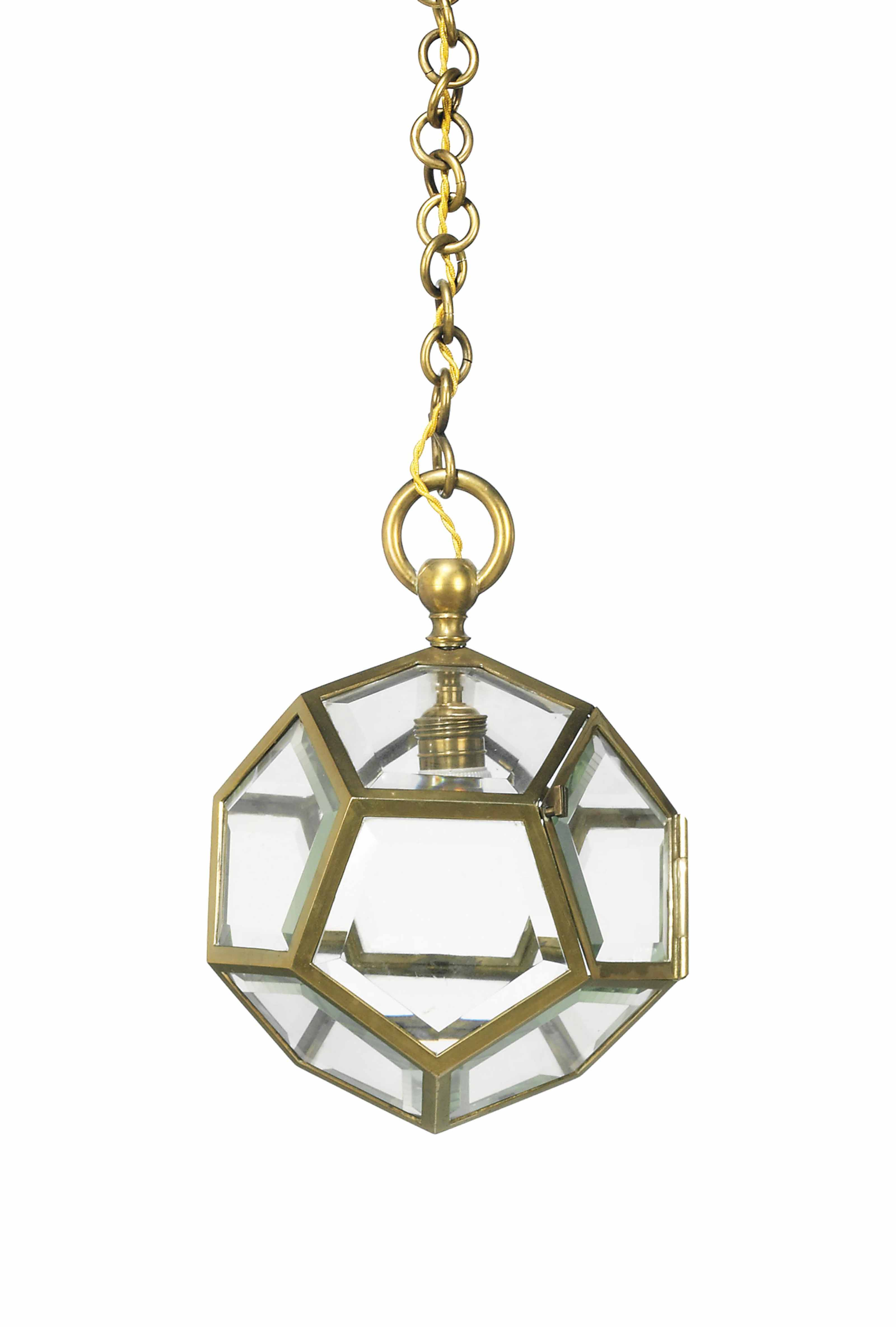 Adolf loos 1870 1933 dodecahedron pendant light circa for Dodecahedron light fixture