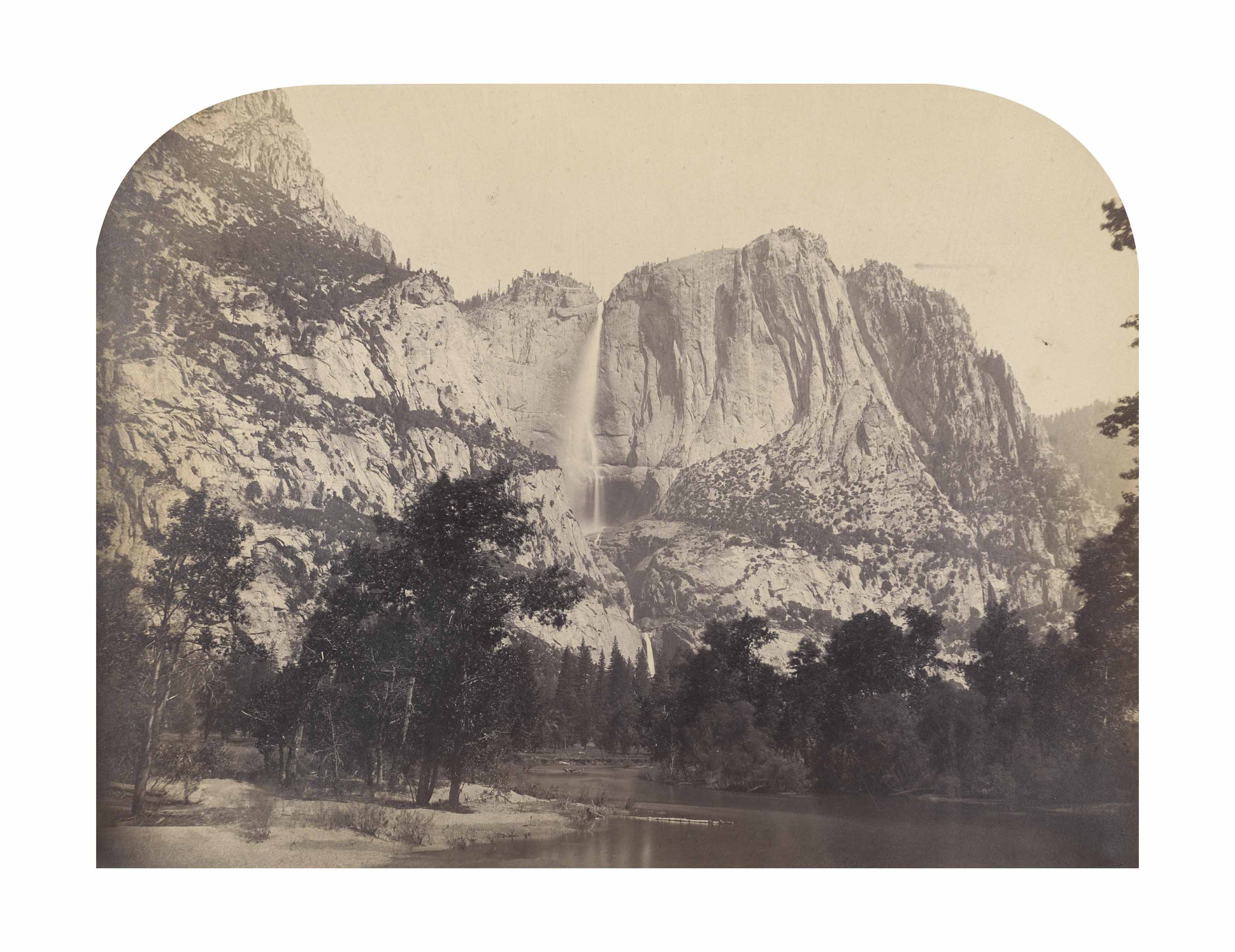 Horsetail Fall, Yosemite, 1861