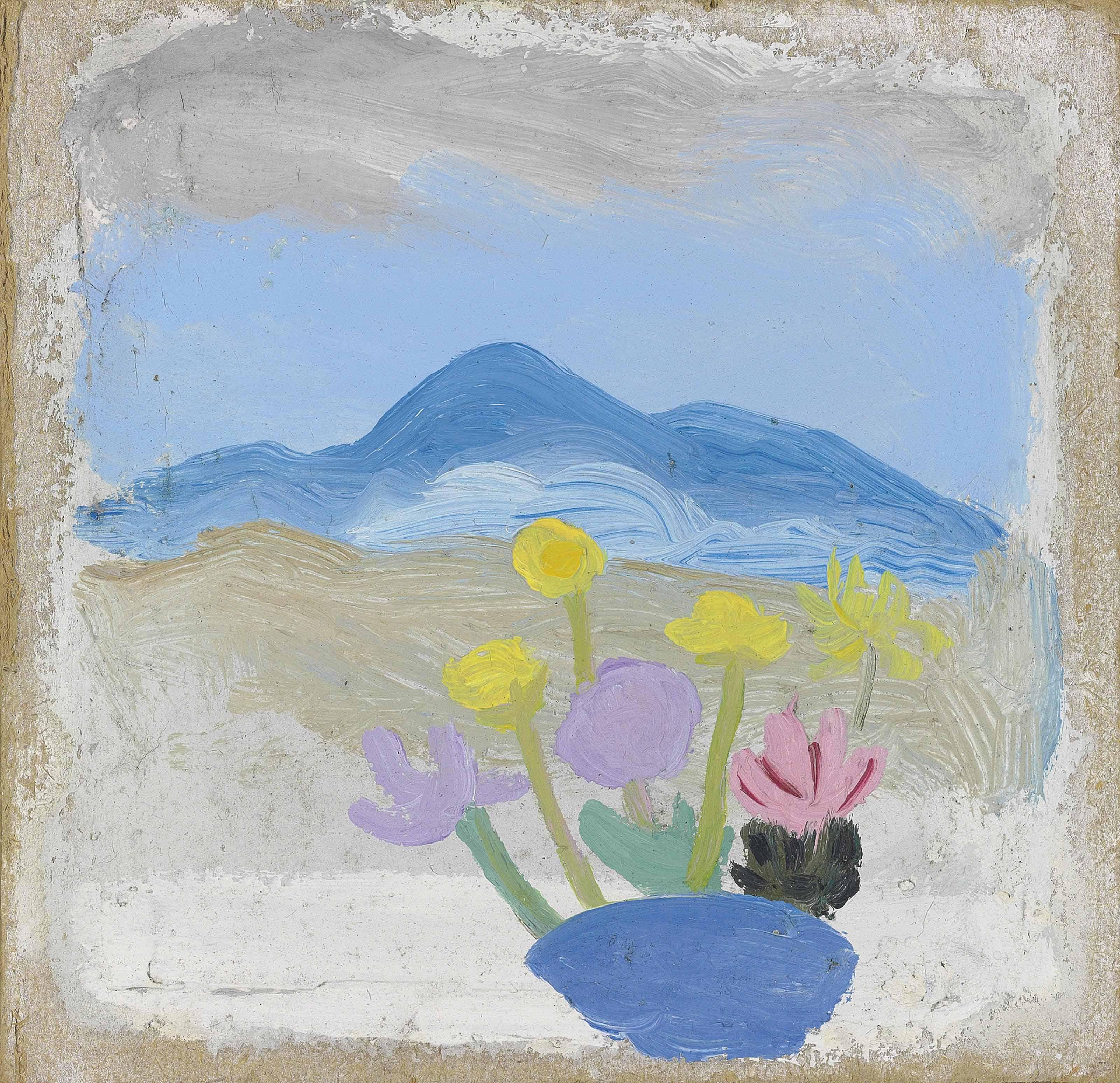 Still life (Flowers in landscape)