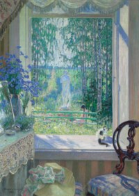 Open window onto a garden