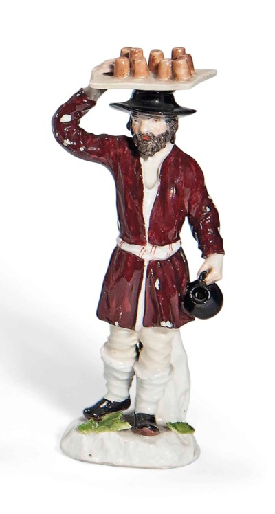 A MEISSEN FIGURE OF A DRINKS-S
